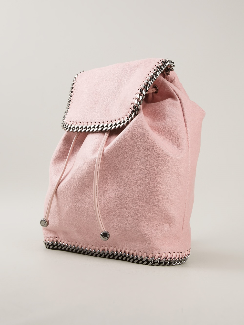 lyst stella mccartney falabella backpack in pink. Black Bedroom Furniture Sets. Home Design Ideas