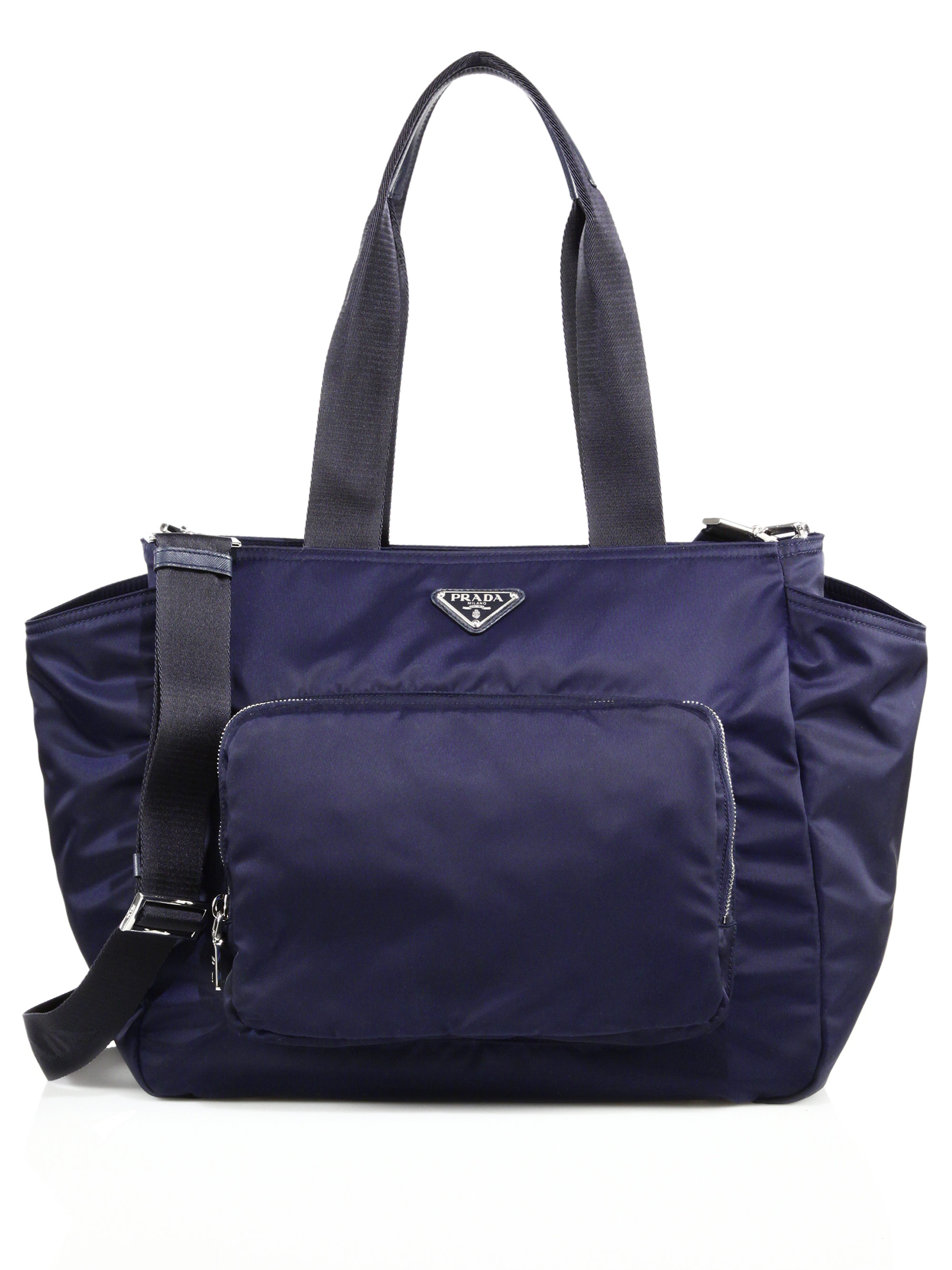 prada nylon diaper bag in blue lyst. Black Bedroom Furniture Sets. Home Design Ideas