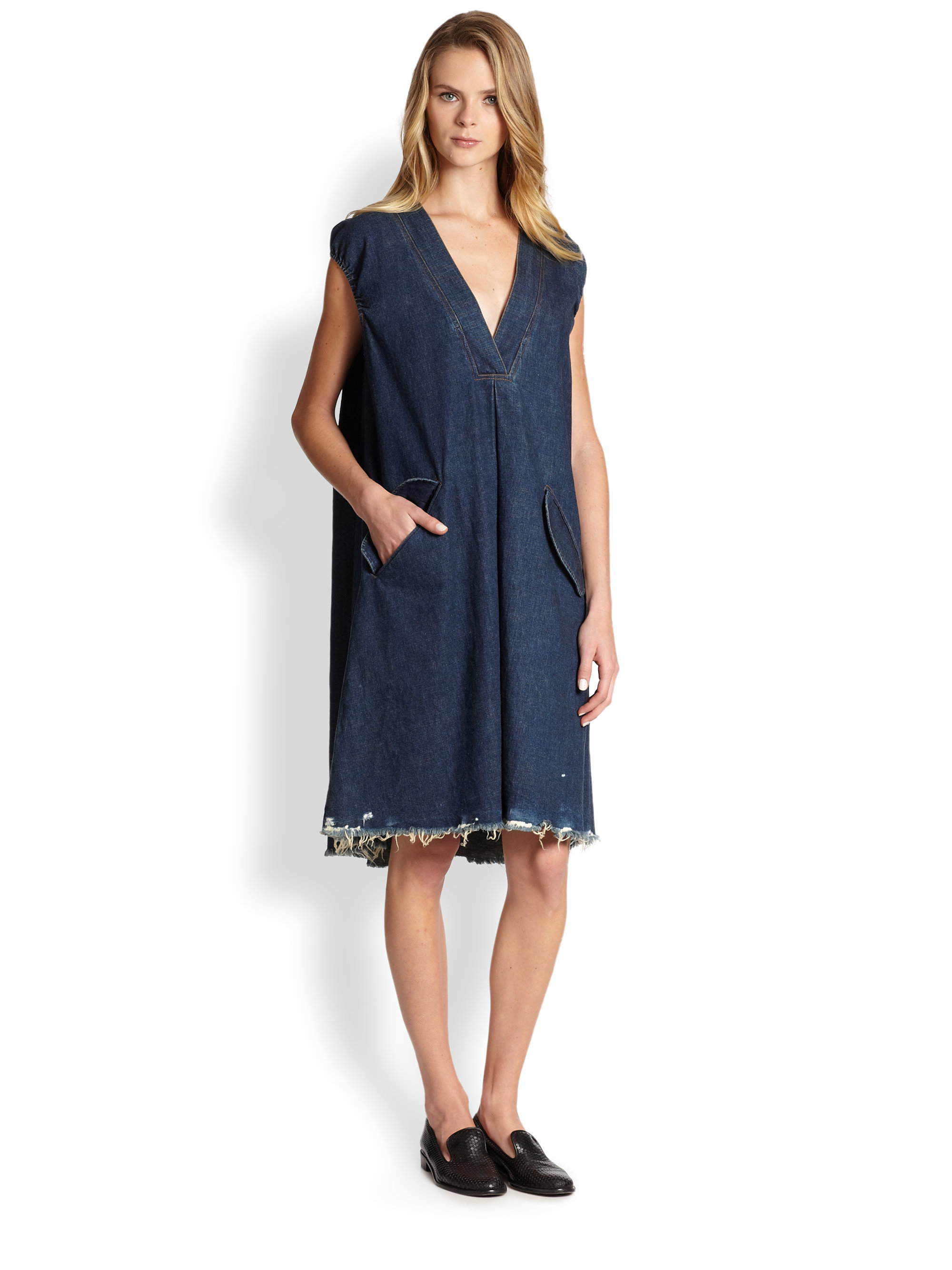 38e2fb91fde Lyst - Rachel Comey Gambit Denim Tent Dress in Blue
