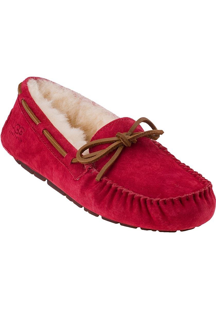 ugg moccasins red