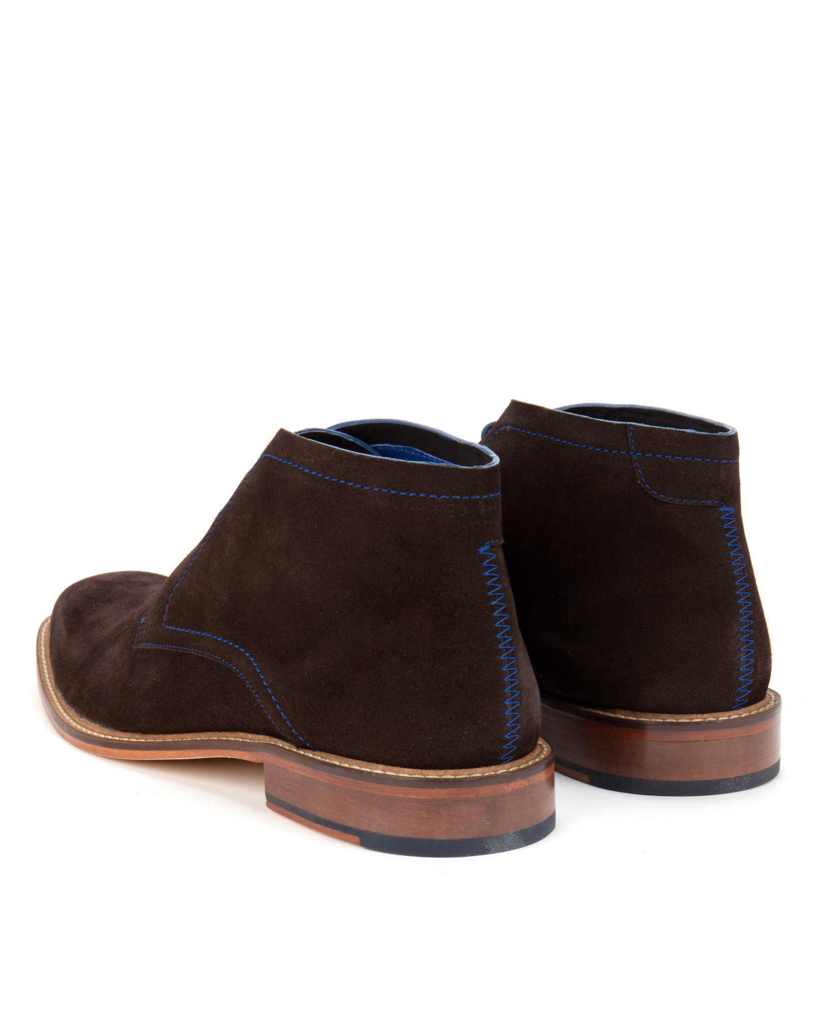 Ted baker Suede Derby Chukka Boots in Brown for Men | Lyst