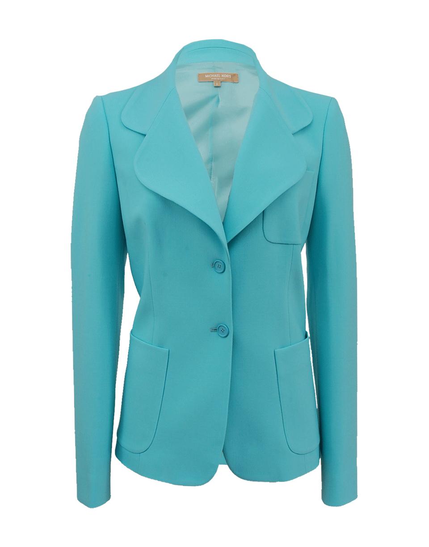 Lyst Michael Kors Patch Pocket Jacket In Green
