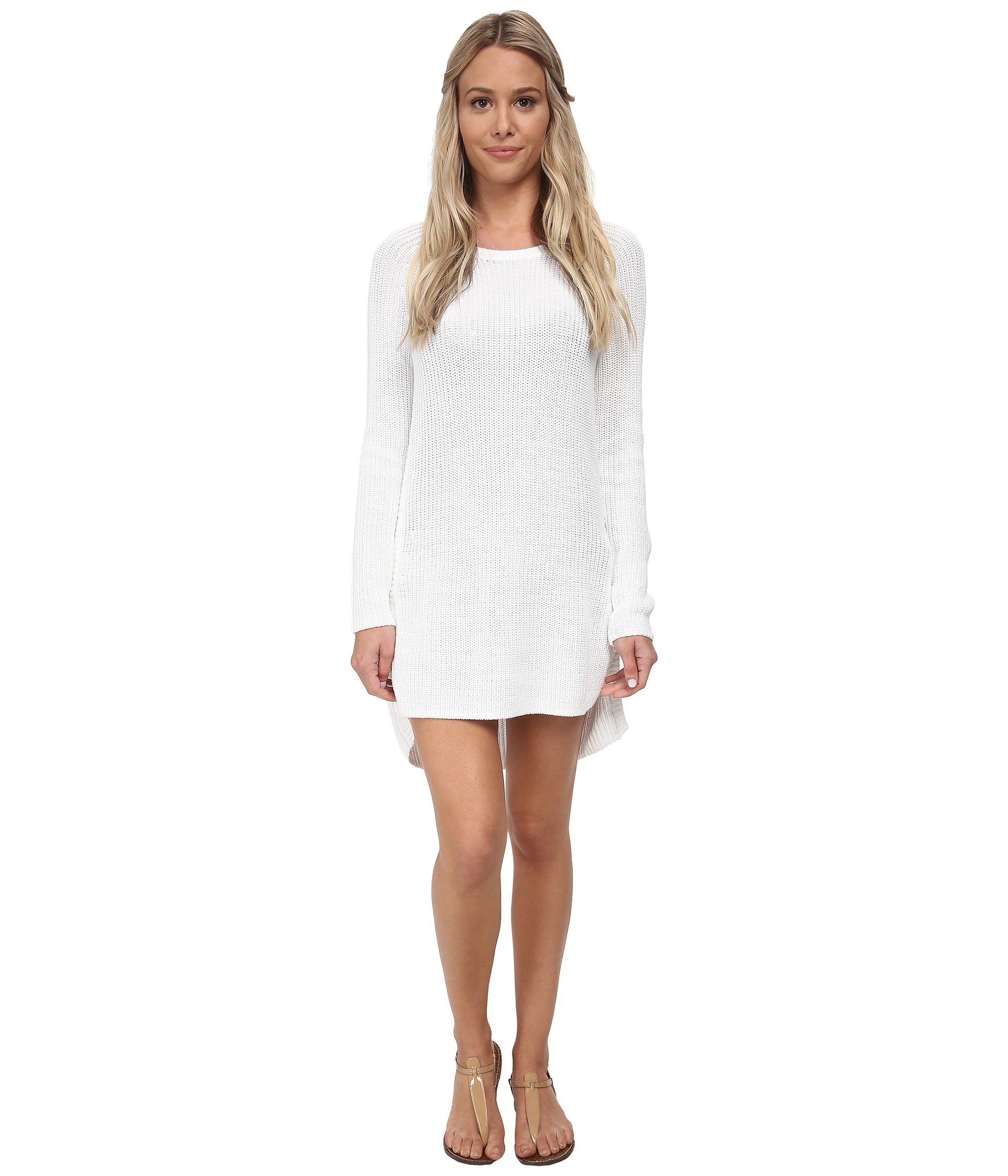 Tommy bahama Zipper Beach Sweater Cover-up in White | Lyst