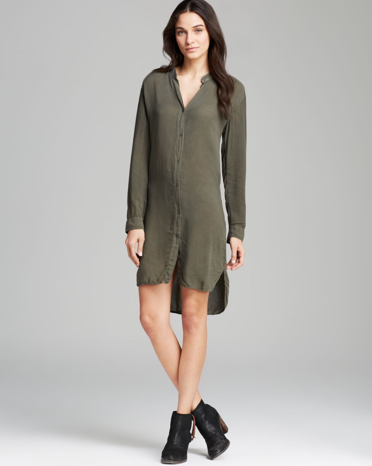 c030fd749fa6 James Perse Shirt Dress Button Down in Green - Lyst