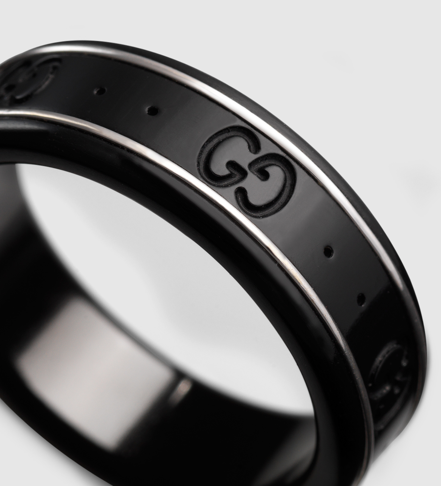 eternity other ring in diamond rings band meteorite platinum black jewelry dinosaur and gibeon bone