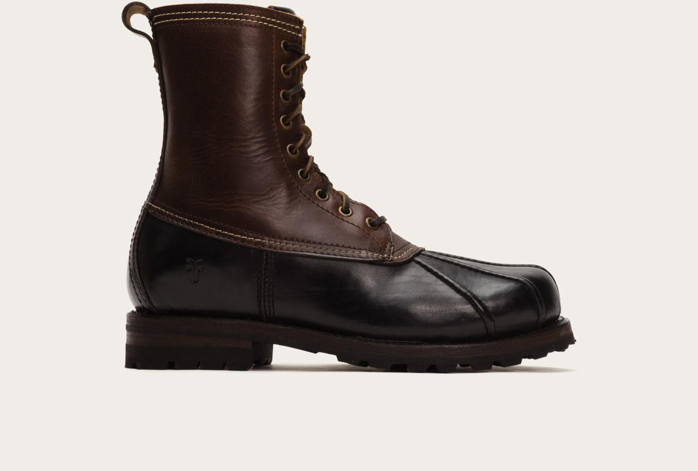 frye warren duck boot in black for lyst