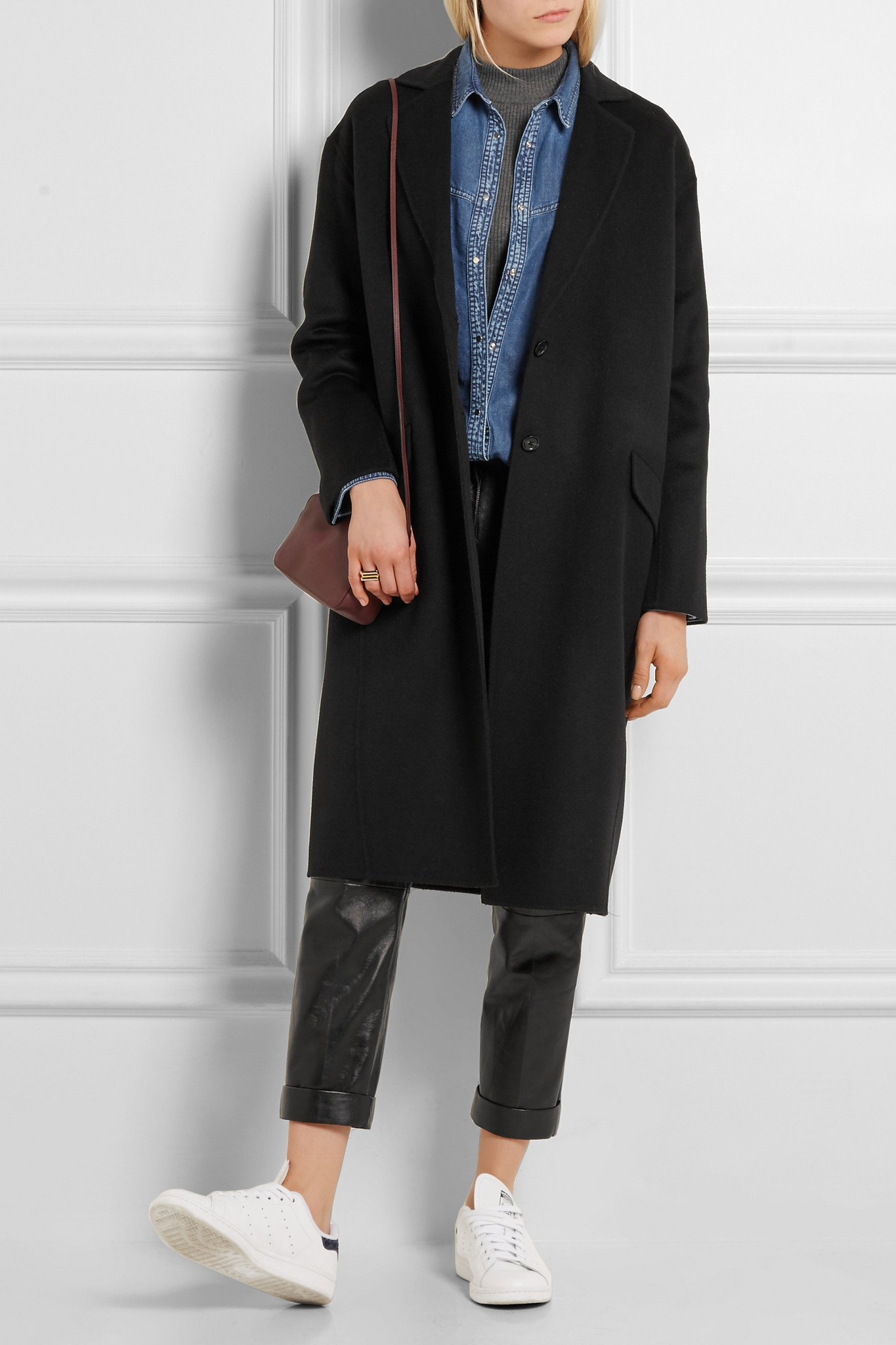 Joseph Wool And Cashmere-blend Coat in Black | Lyst