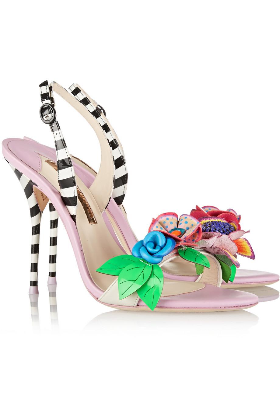 SOPHIA WEBSTER Lilico floral appliqué sandals 858QaseBVX