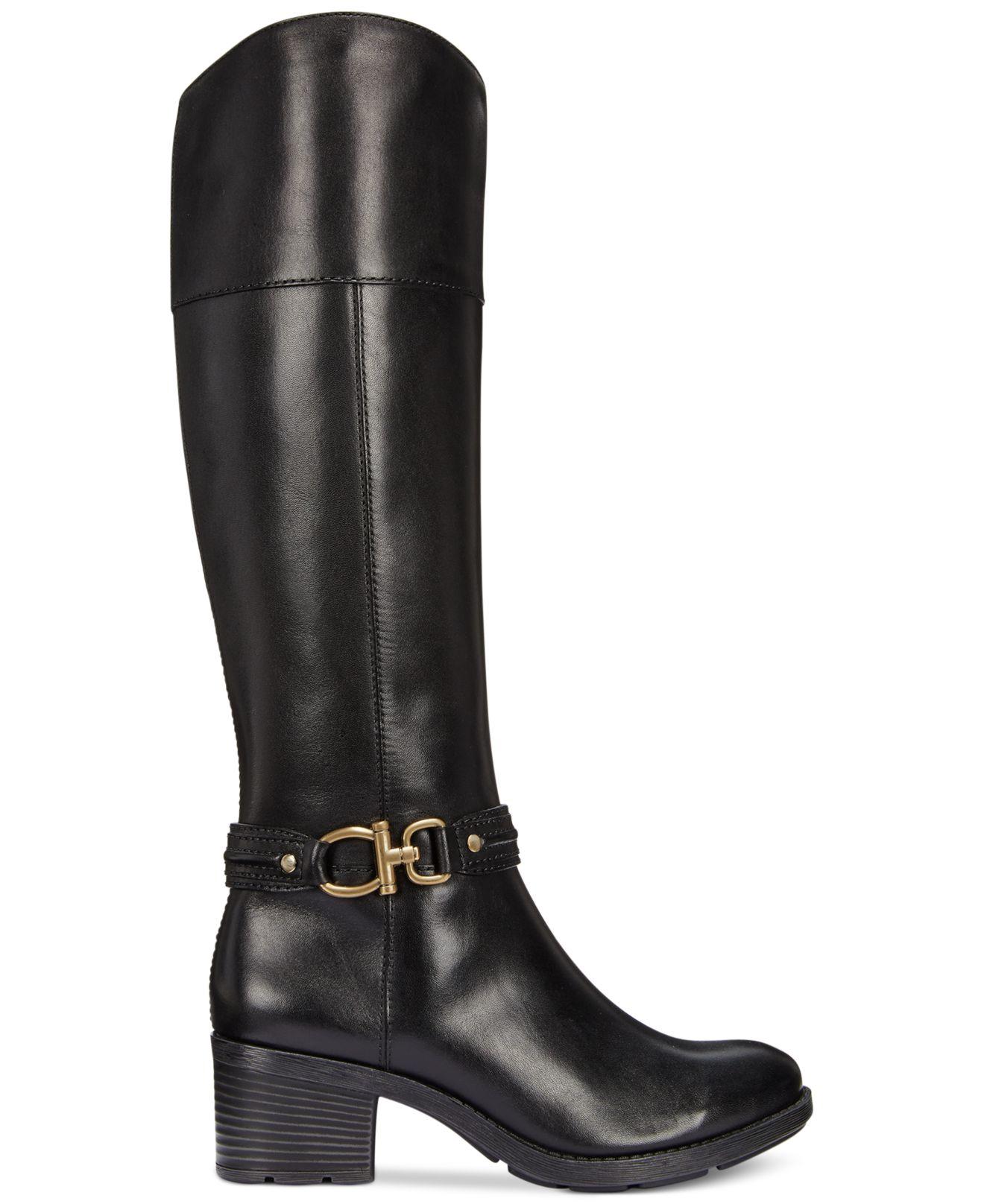 bandolino ulla wide calf boots in black black