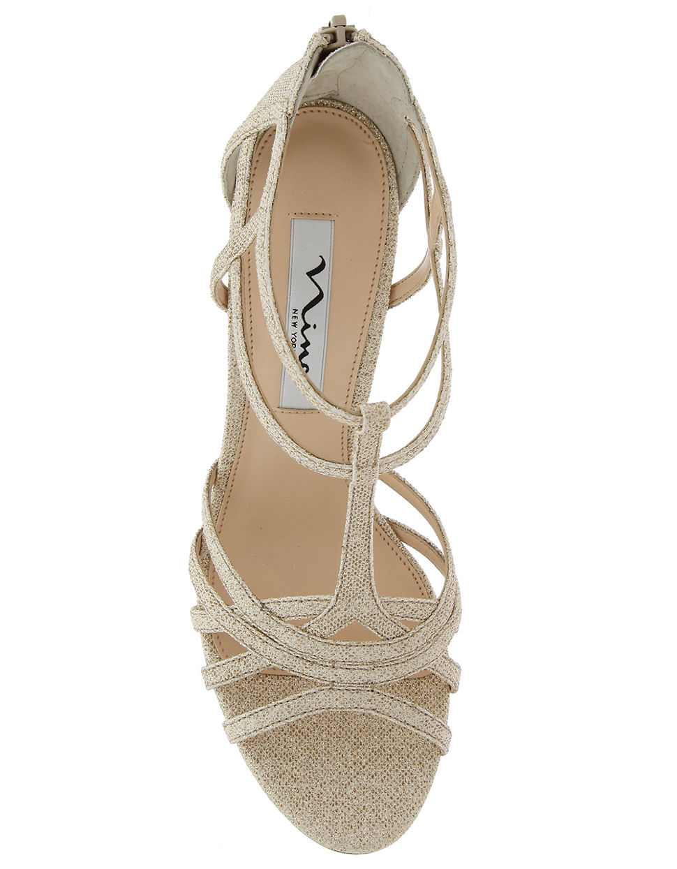 Nina City High Heel Dress Sandals In Gold Champagne Lyst