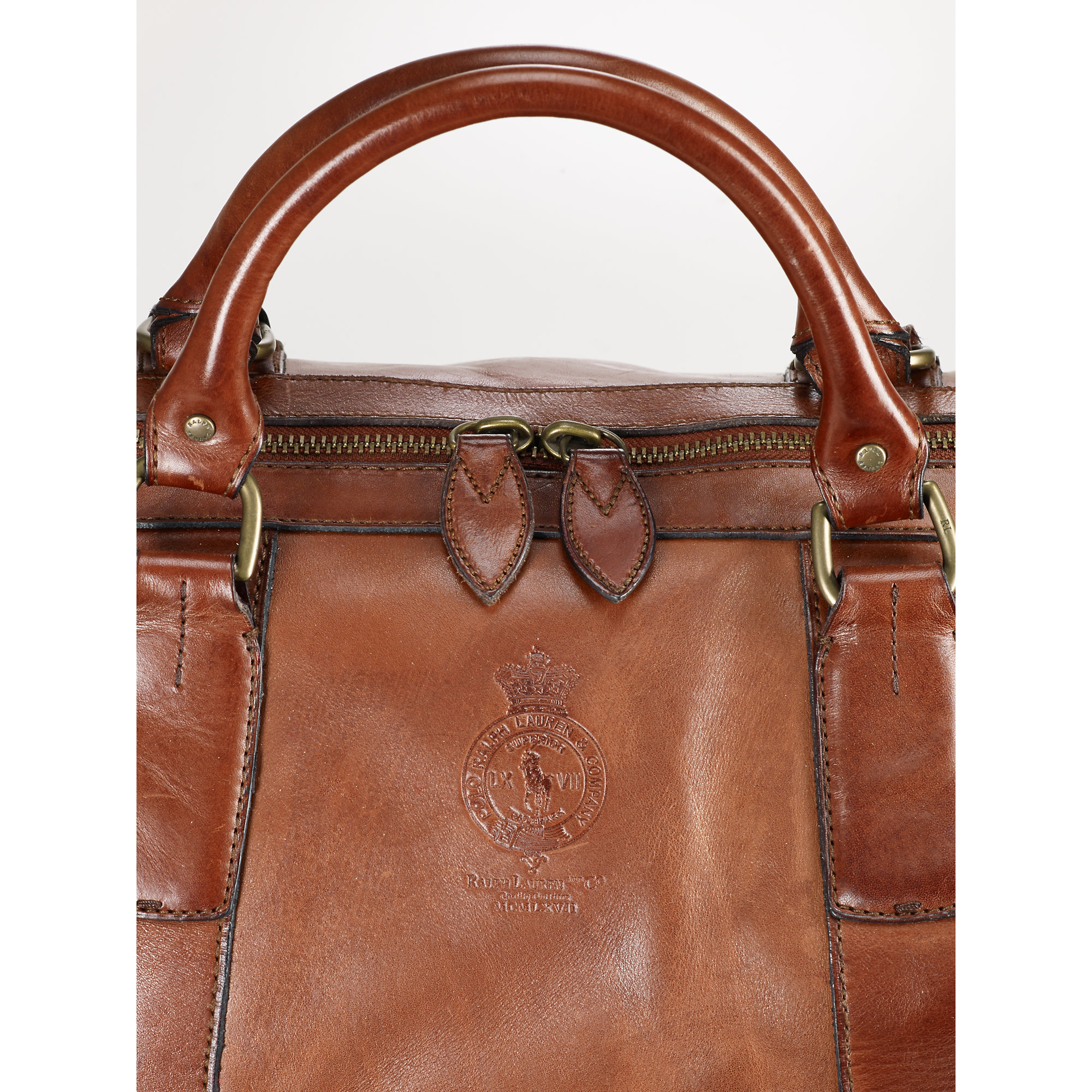 ... usa lyst polo ralph lauren leather duffel bag in brown for men 89d2c  fb7c0 4a597fbbfe2c5