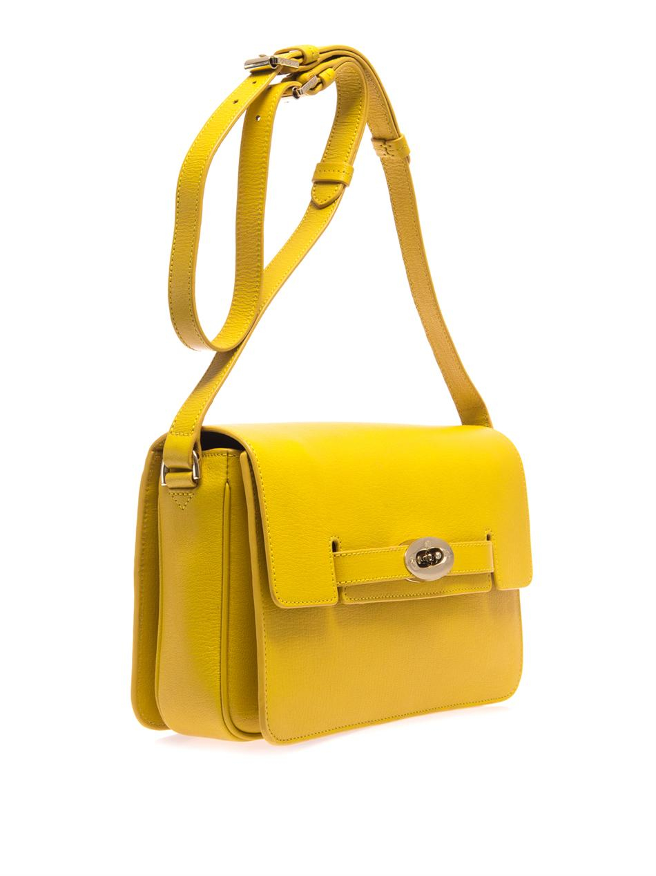 mulberry bayswater crossbody bag in yellow lyst