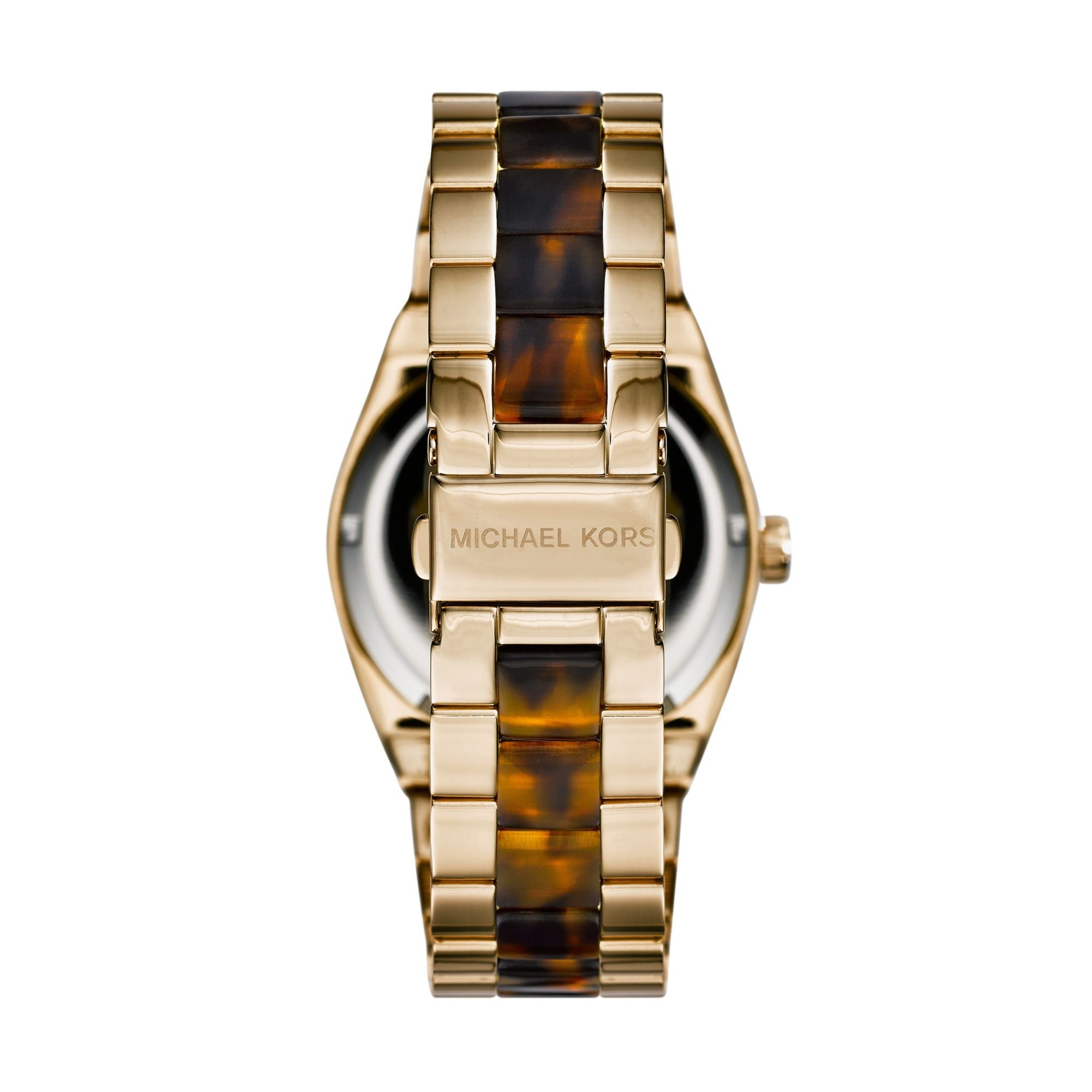 d4147f45e4eb Lyst - Michael Kors Channing Gold-tone Tortoise Acetate Watch in ...
