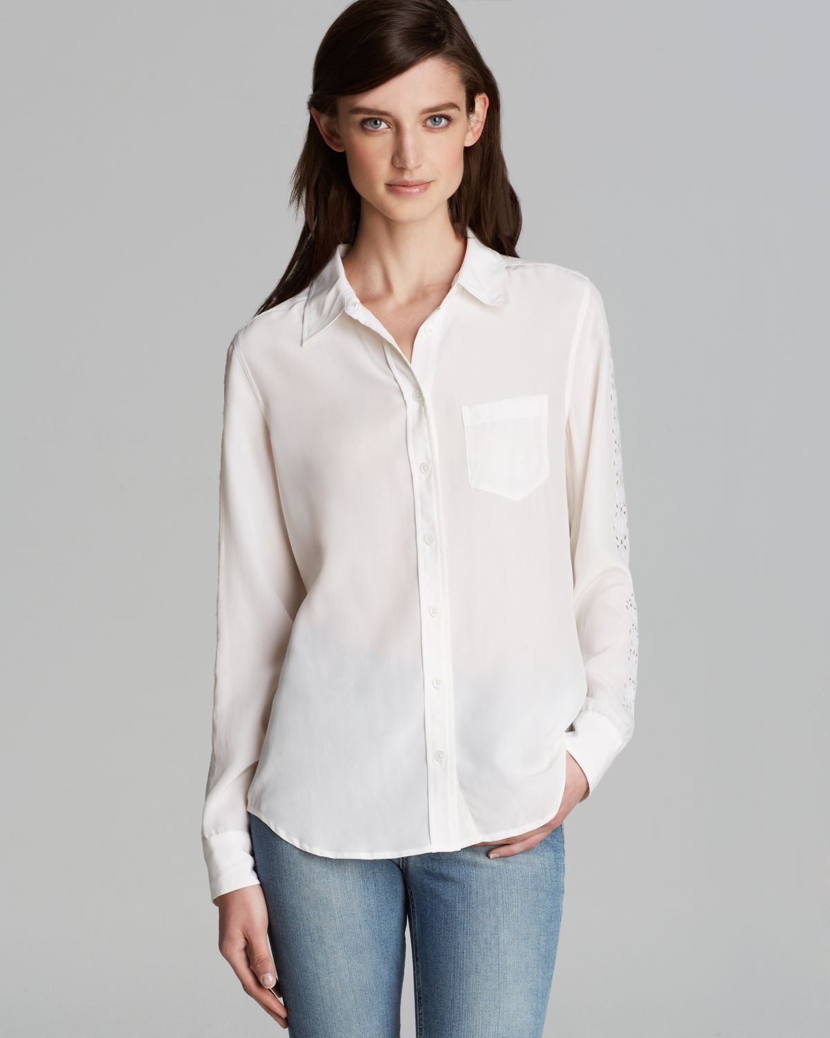 White Blouse Embroidered 110