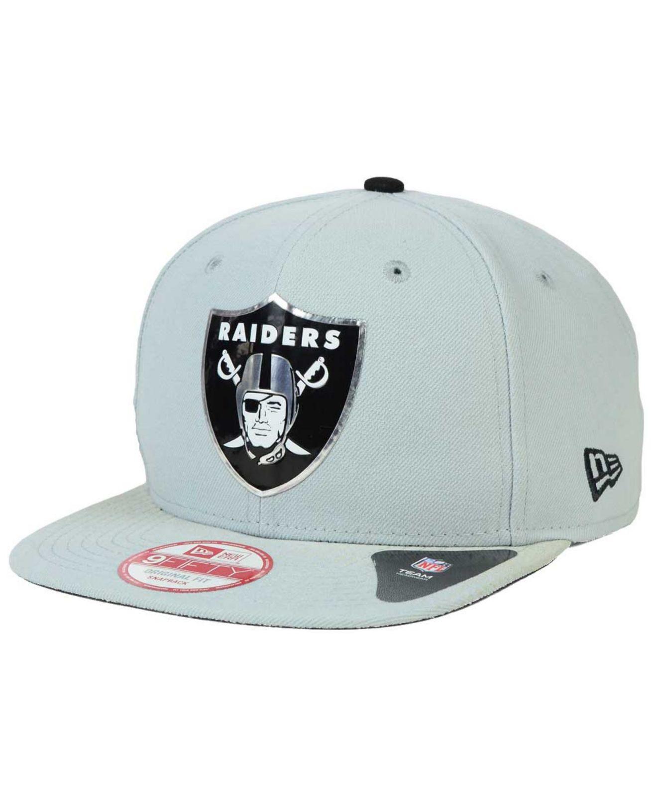 Lyst - Ktz Oakland Raiders Draft Redux 9fifty Snapback Cap in Gray ... 02df231f6ec5