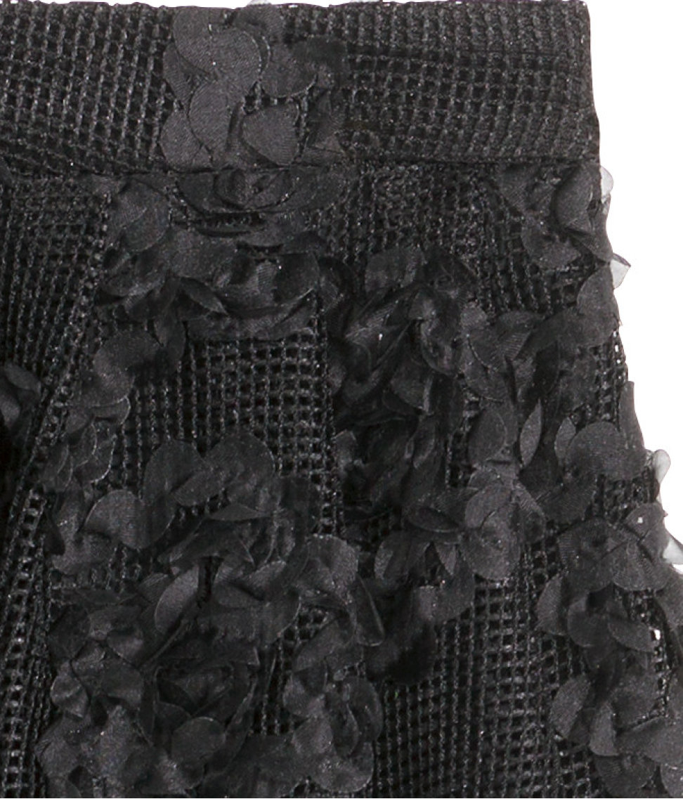 Lyst Hm Skirt With Chiffon Flowers In Black