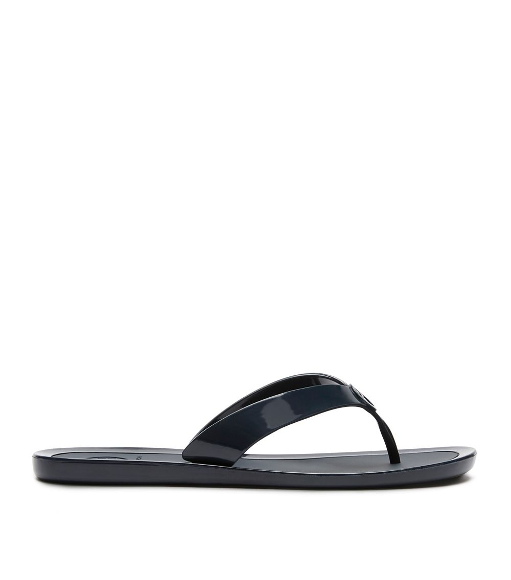4e112ce84 Tory Burch Logo Jelly Thong Sandal in Blue - Lyst