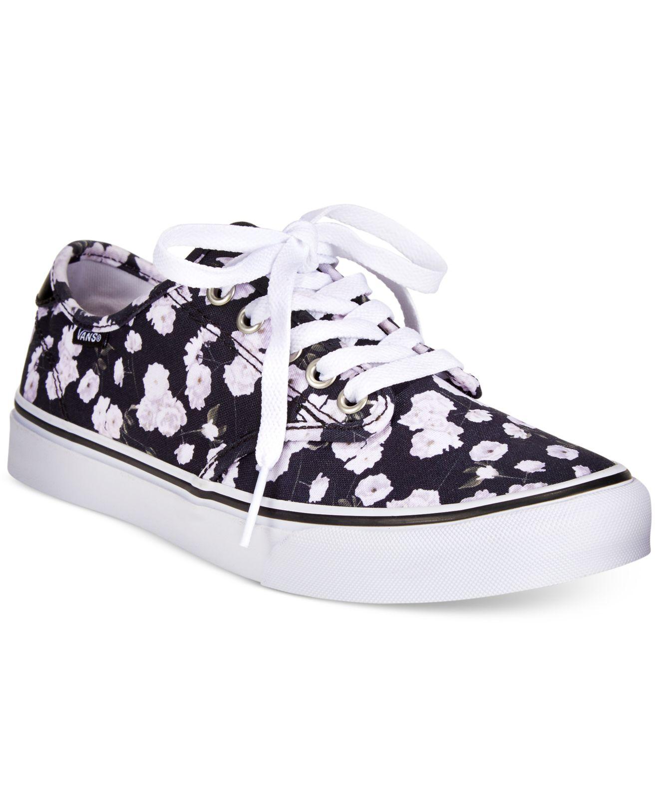 47c0a74d35 Lyst - Vans Women s Camden Floral Sneakers in White