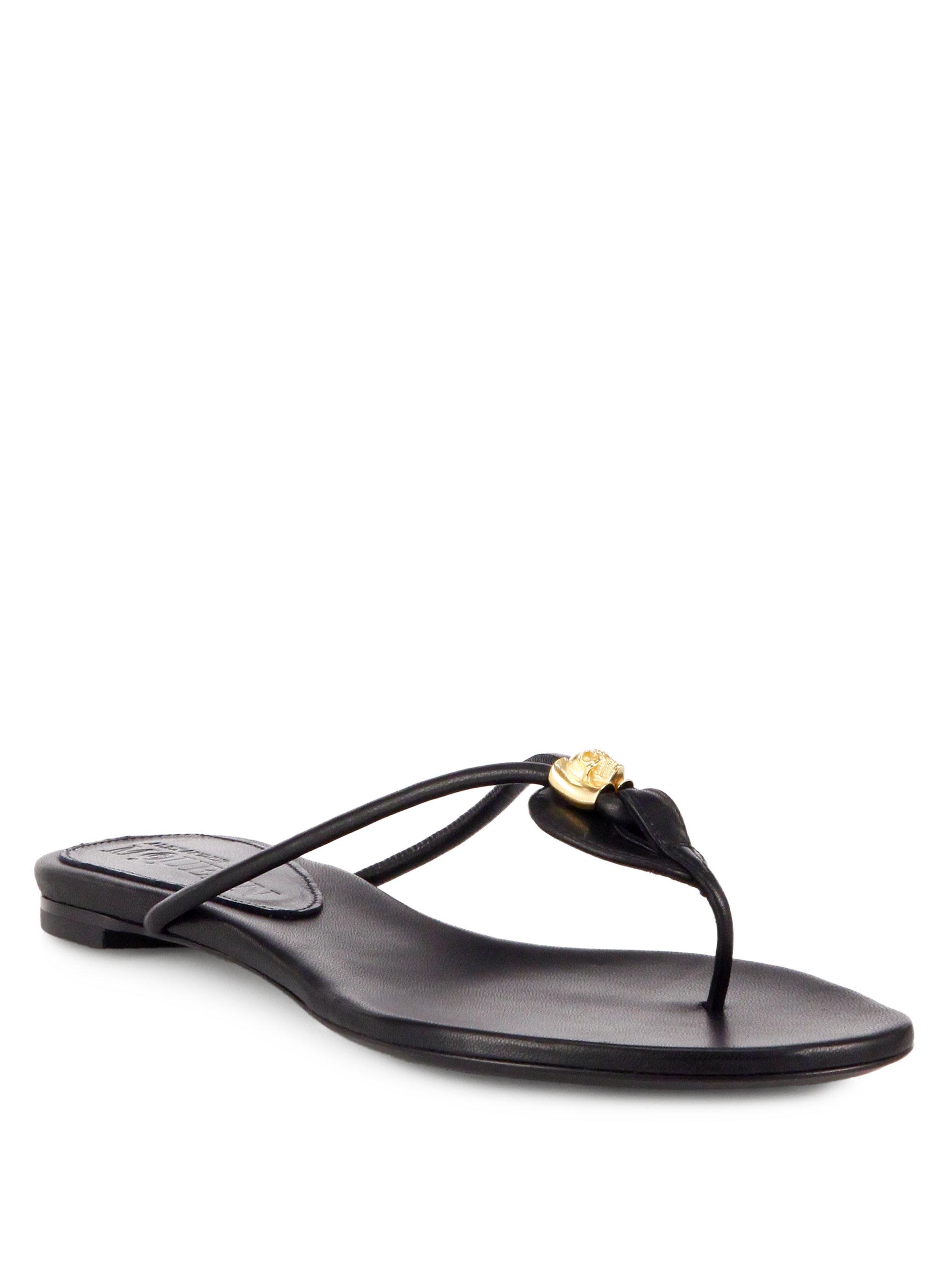 Alexander McQueen Leather Flip Flops YNlAsR