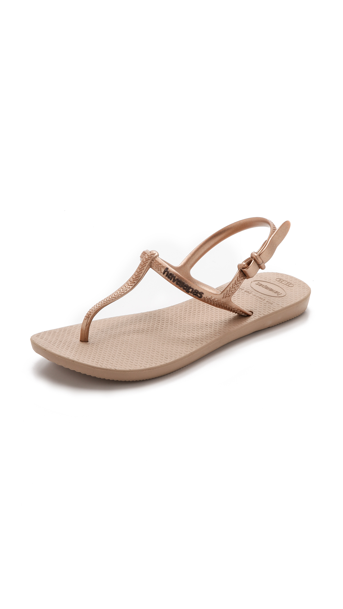 1a18bb88f1dc Lyst - Havaianas Freedom T-strap Sandals - Rose Gold in Pink
