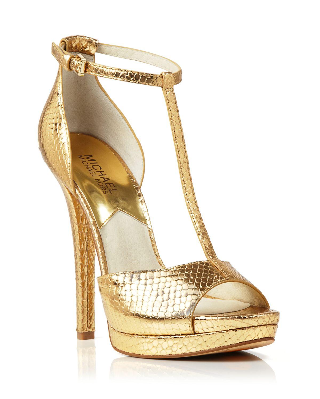 511ecc6efb0 Lyst - MICHAEL Michael Kors Open Toe Platform T Strap Sandals ...