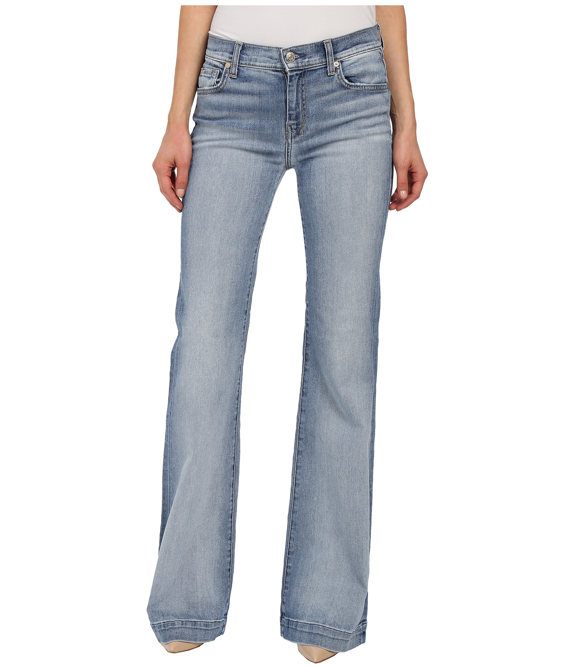 7 for all mankind Dojo In Pretty Light Vintage in Blue | Lyst