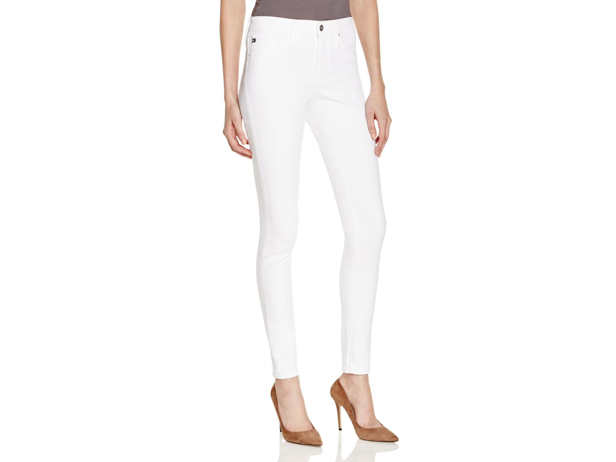 Ag White Skinny Jeans - Jeans Am