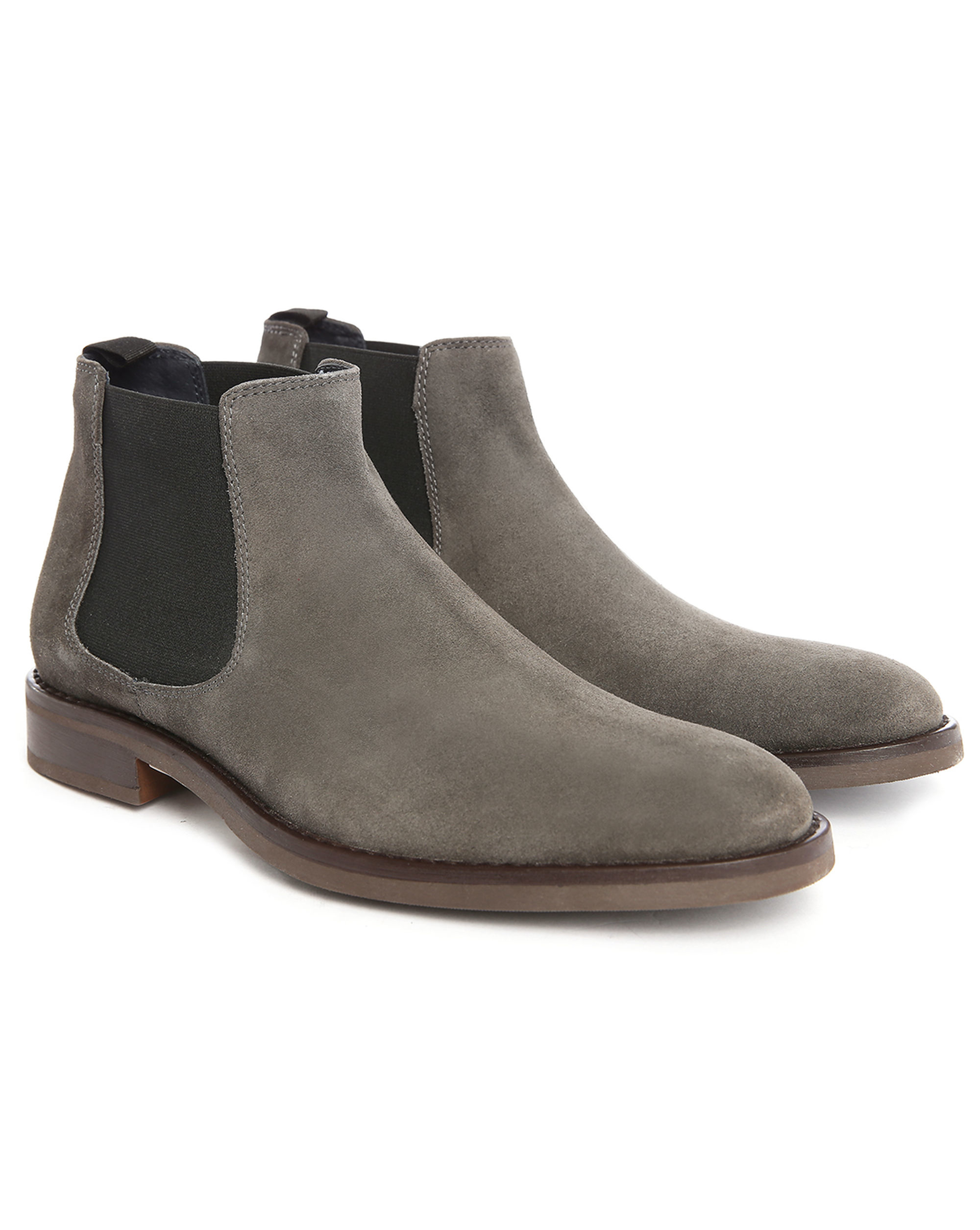 tim o suede chelsea boots in gray for men lyst. Black Bedroom Furniture Sets. Home Design Ideas