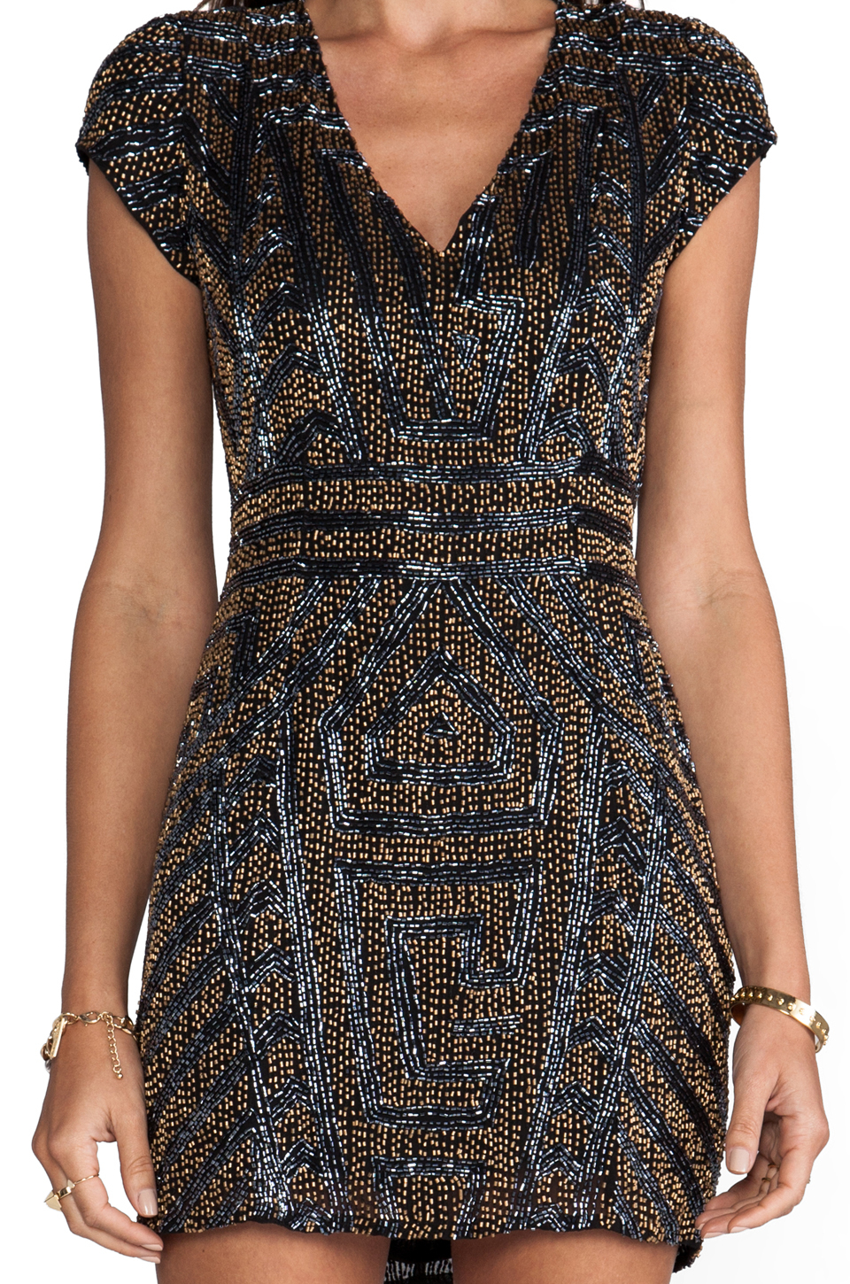 eb8985b4c9d81 Parker Serena Sequin Dress in Black in Blue - Lyst