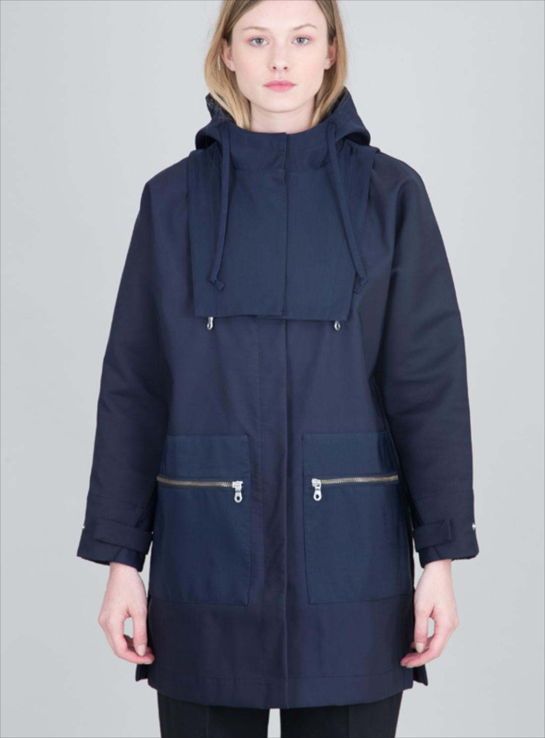 Folk Cirrus Navy Blue Raincoat in Blue | Lyst