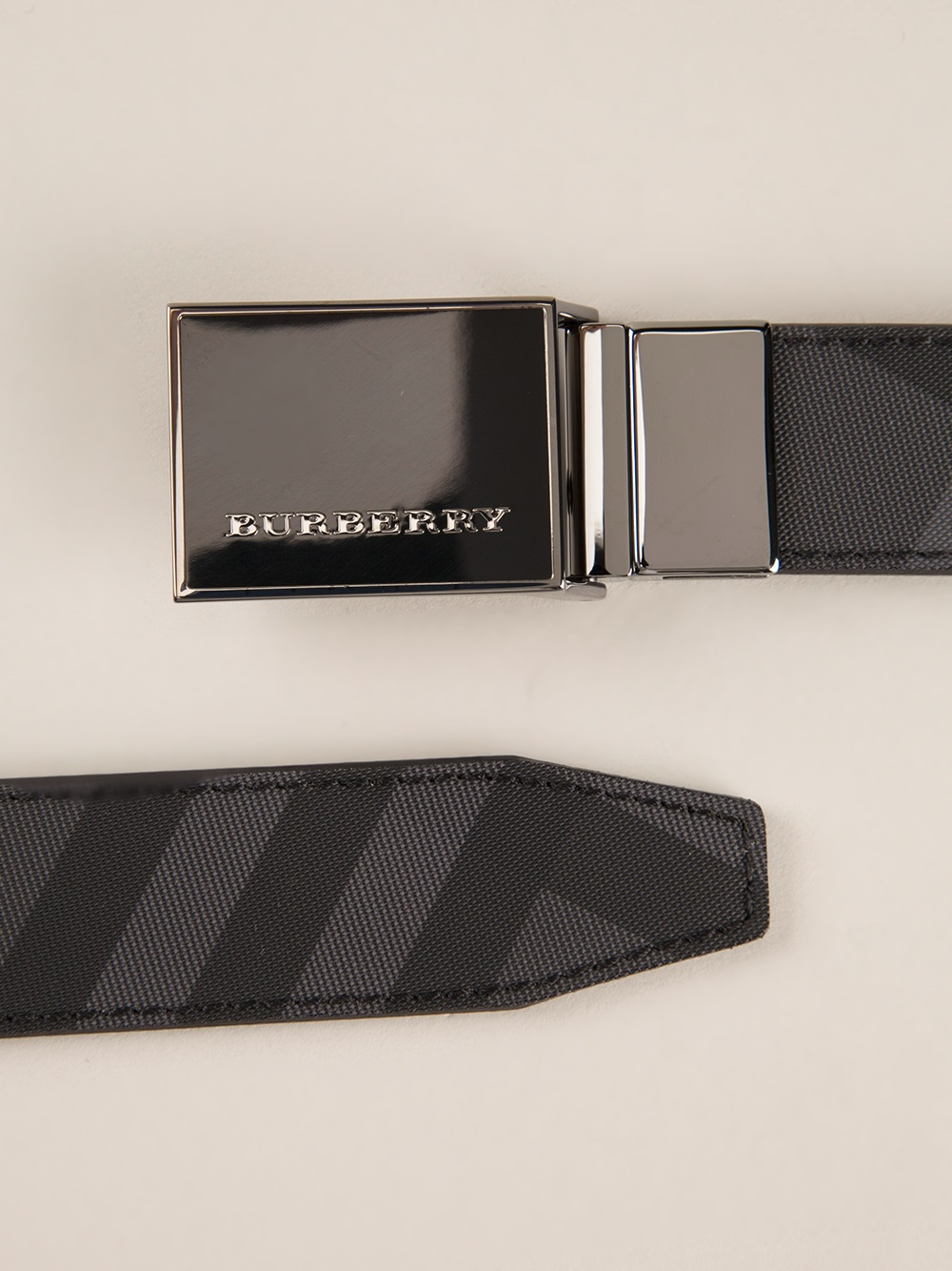 bc44d00894b ... reduced burberry beat check belt in black for men lyst 2738a c8bef