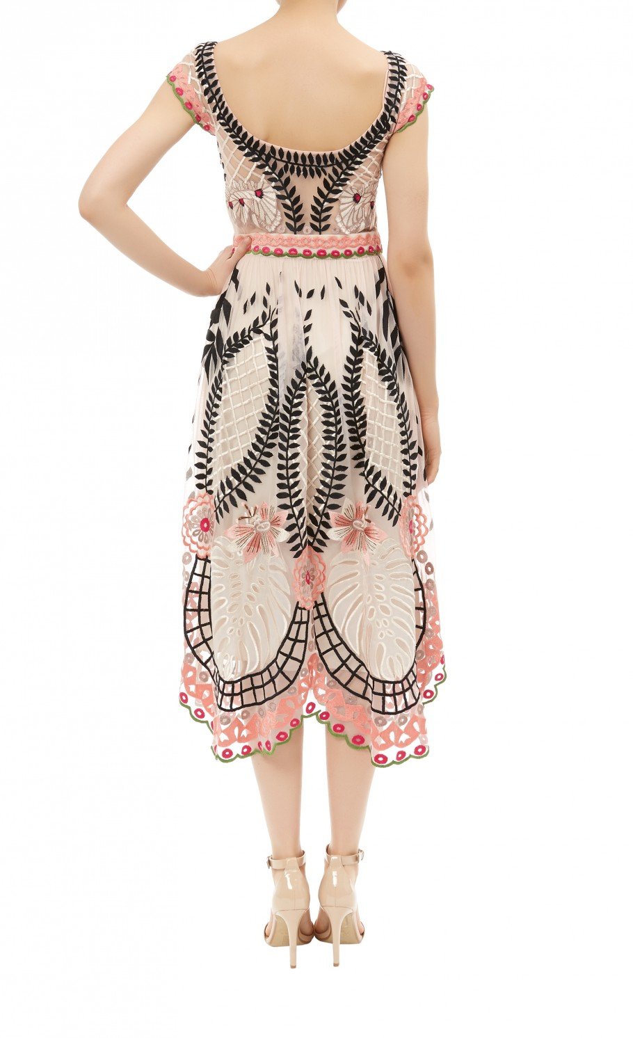 Temperley London Midi Belle Dress In Black Lyst