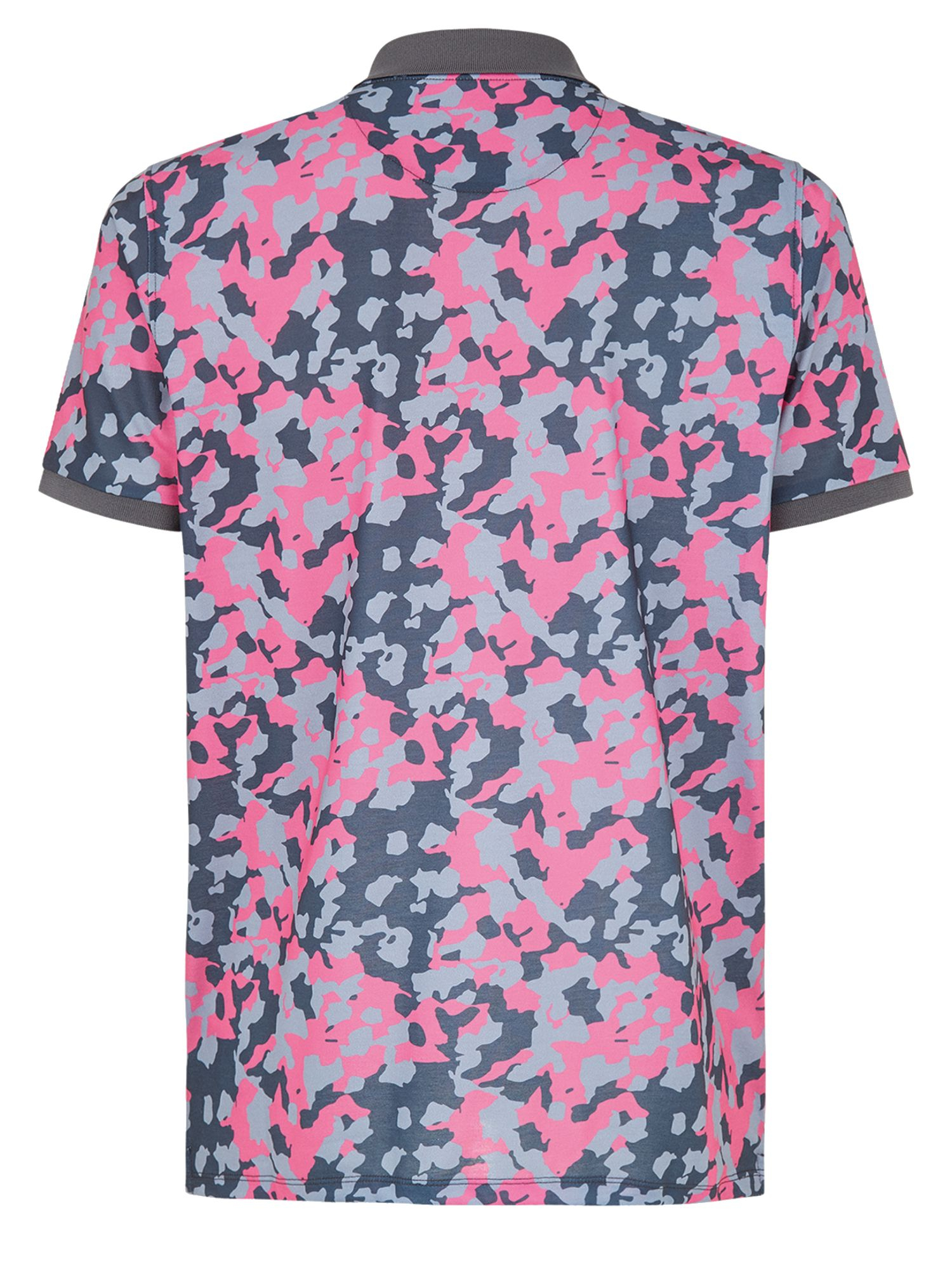 Wolsey camo pattern polo regular fit polo shirt in pink for Camo polo shirts for men