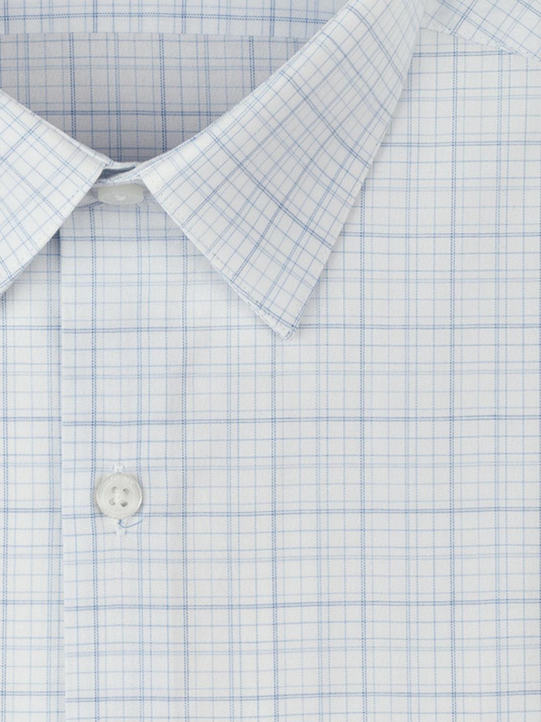 Dkny white grid plaid dress shirt in blue for men soft for Blue white dress shirt