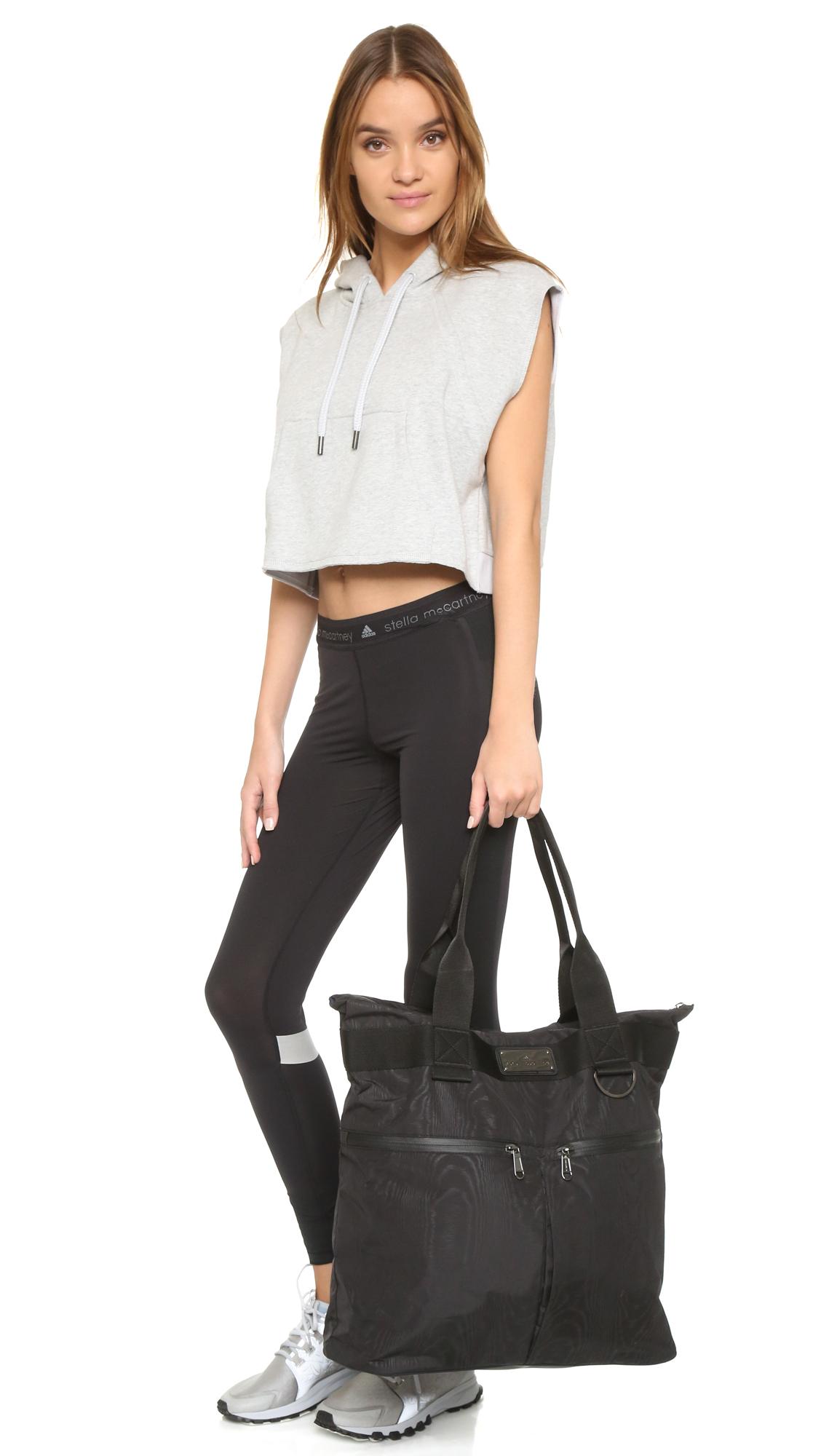 Adidas By Stella Mccartney Big Sports Bag In Black Lyst