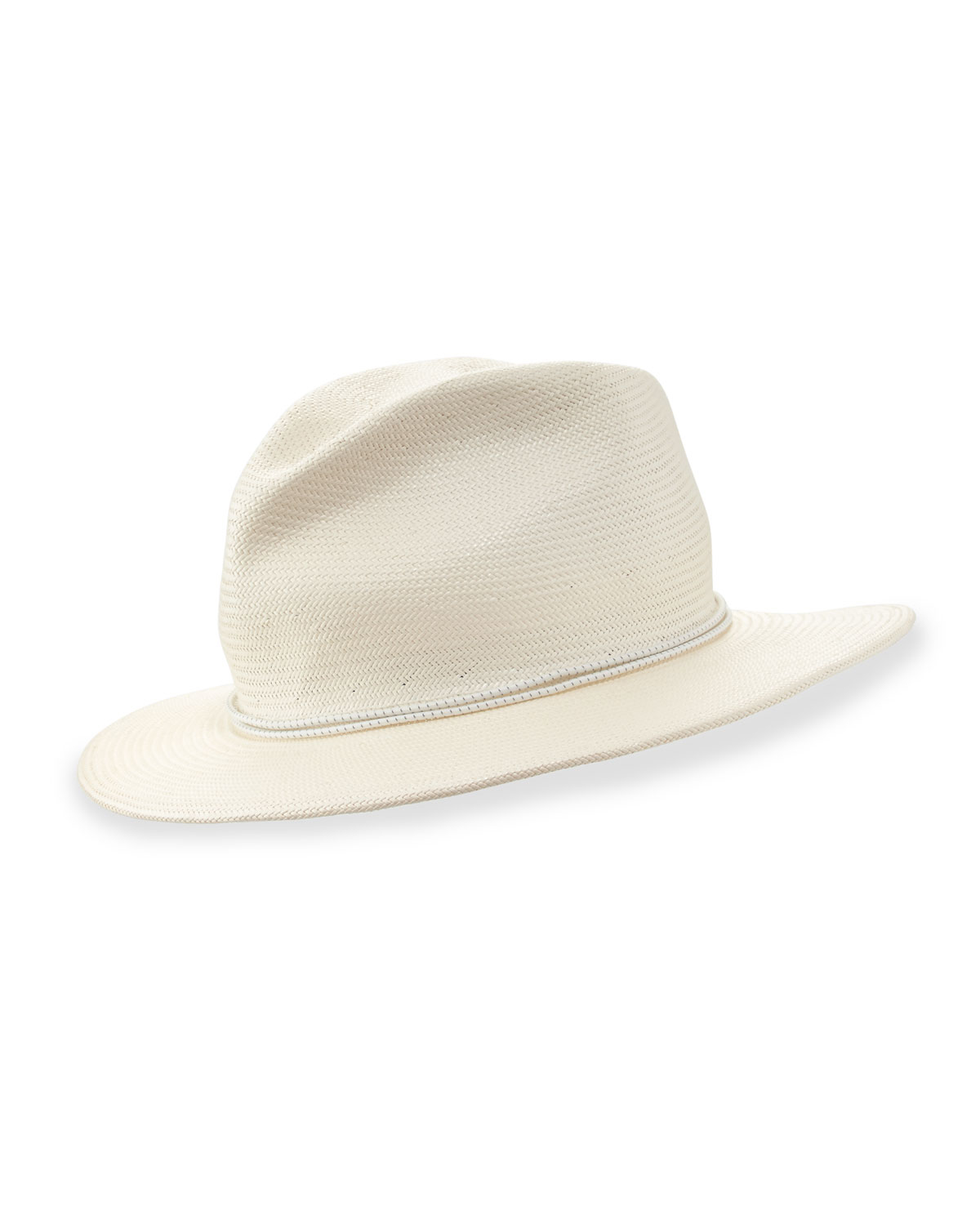 2eeb3ea20d1e5c Yestadt Millinery Nomad Packable Straw Fedora Hat in White for Men ...