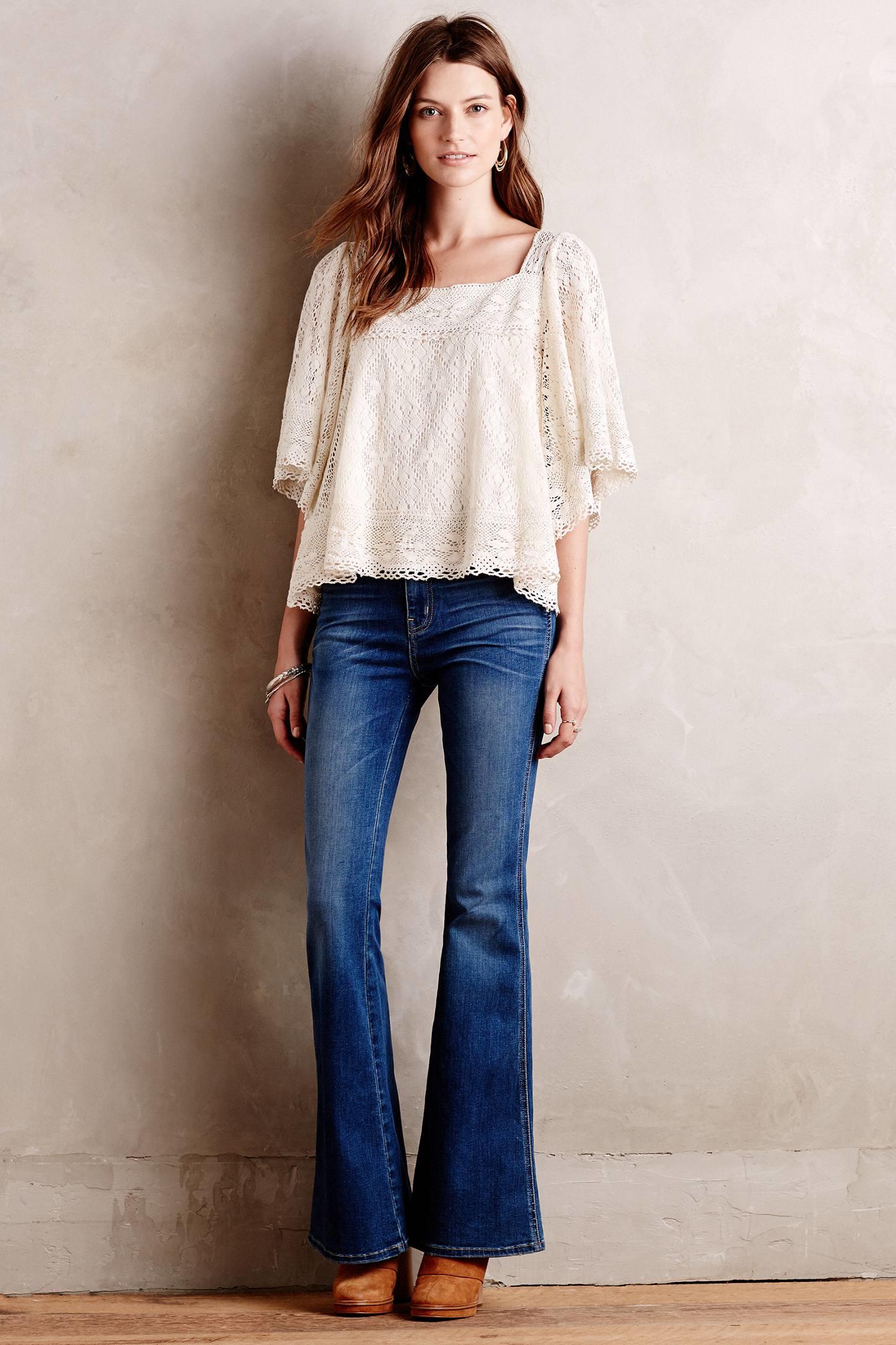 Current/elliott Girl Crush Flare Jeans in Blue   Lyst