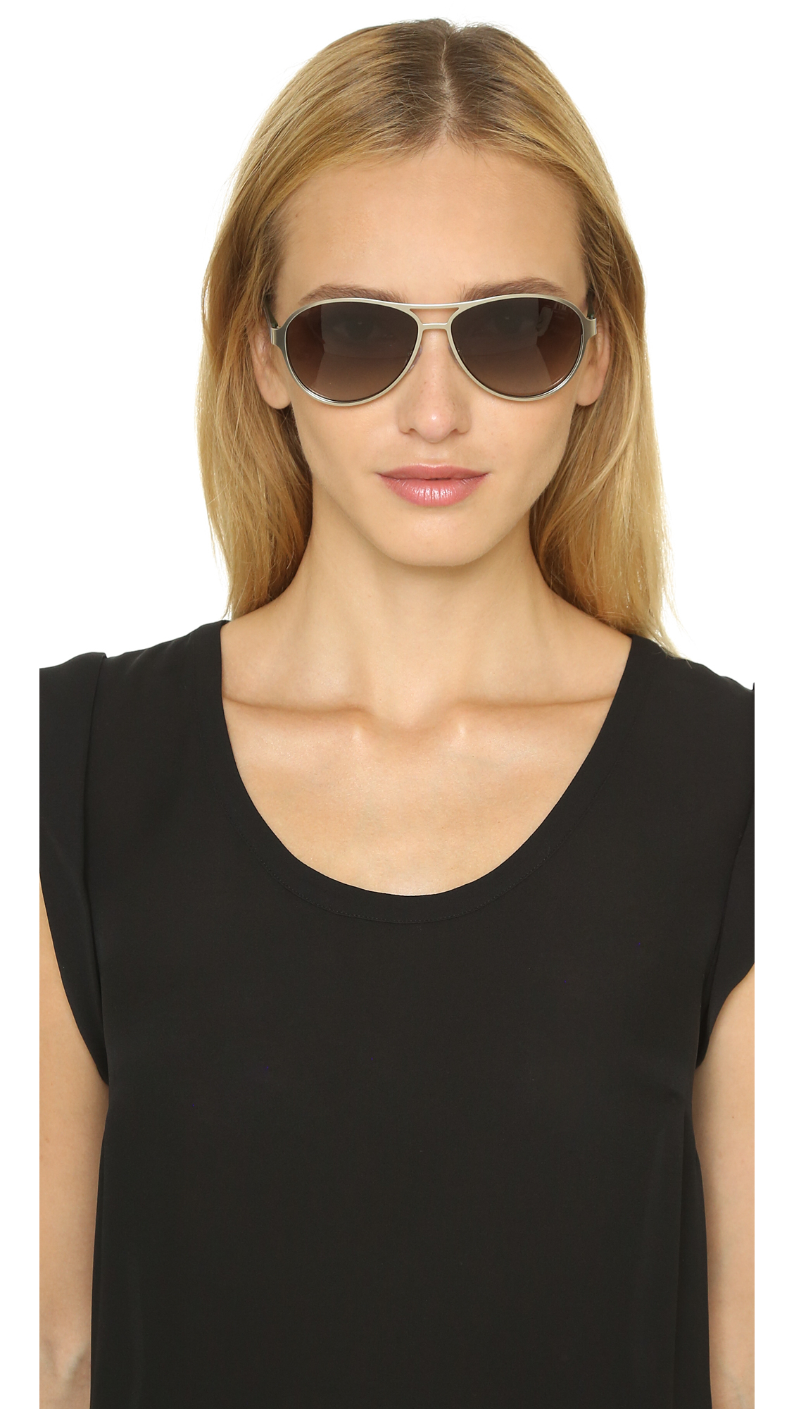4e4dd55981 Lyst - Marc By Marc Jacobs Aviator Sunglasses - Matte Brown brown ...