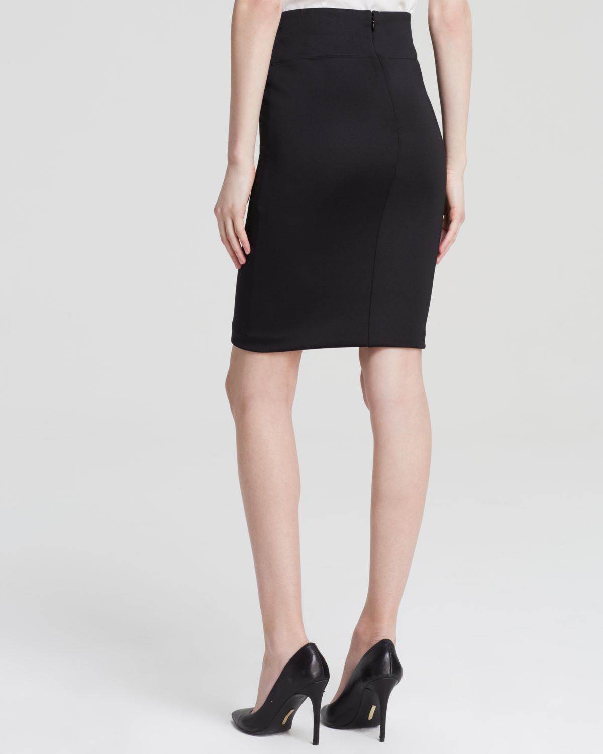 247aca8aa0 Guess Pencil Skirt - Mesh Inset in Black - Lyst