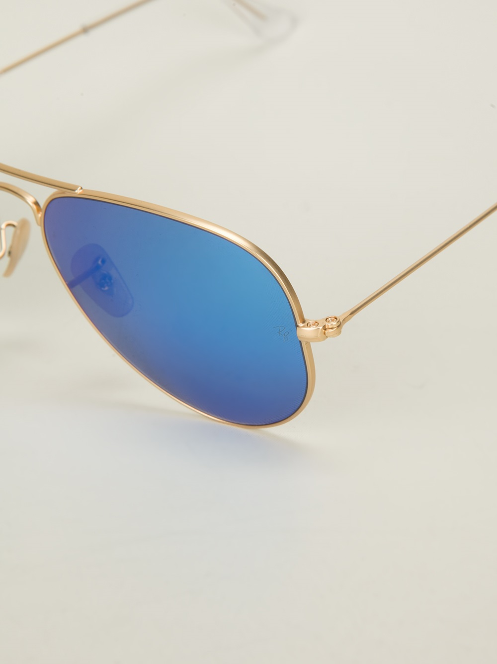 ray ban aviator sunglasses in blue for men lyst. Black Bedroom Furniture Sets. Home Design Ideas