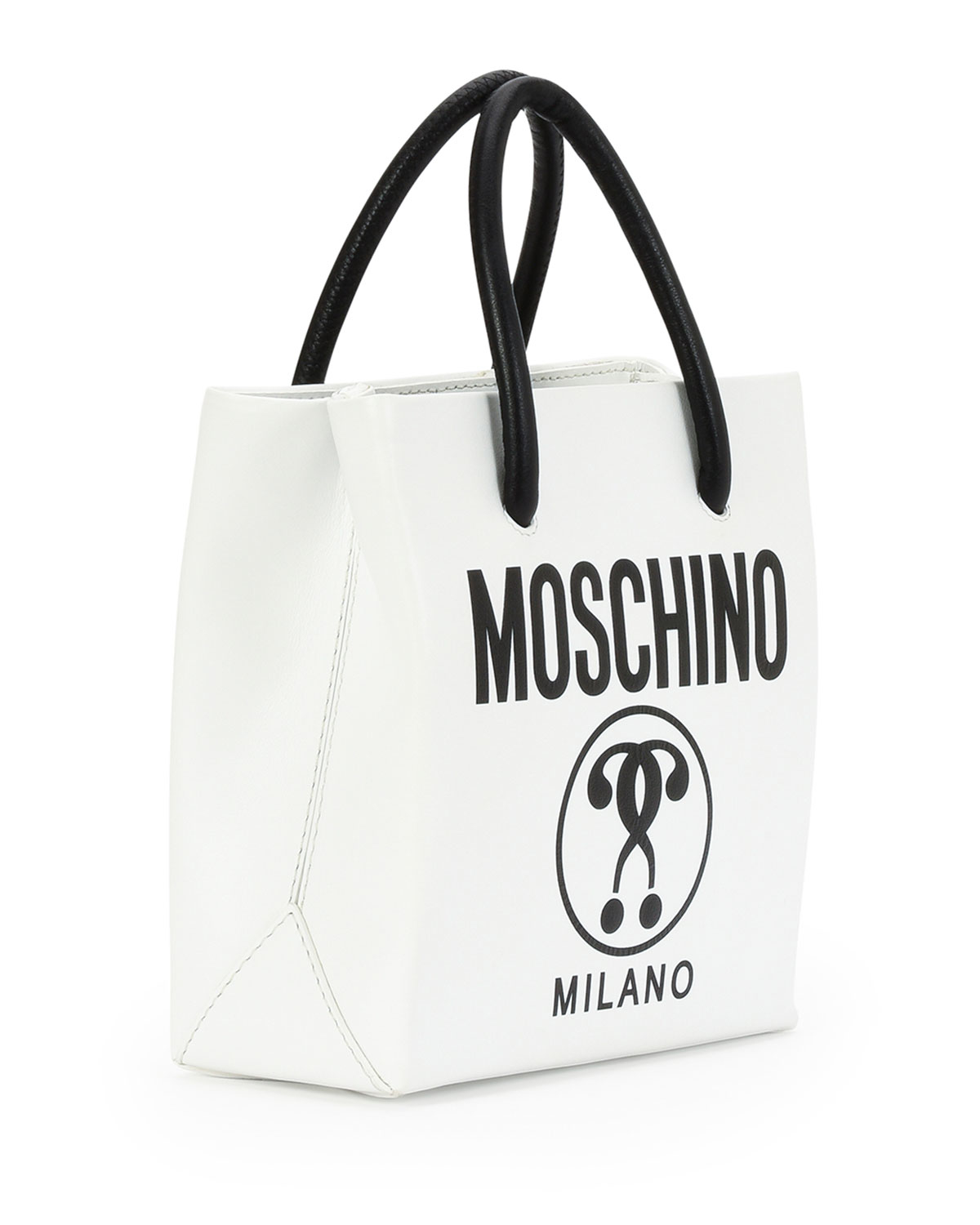 Lyst Moschino Small Logo Print Shopping Tote Bag In Black