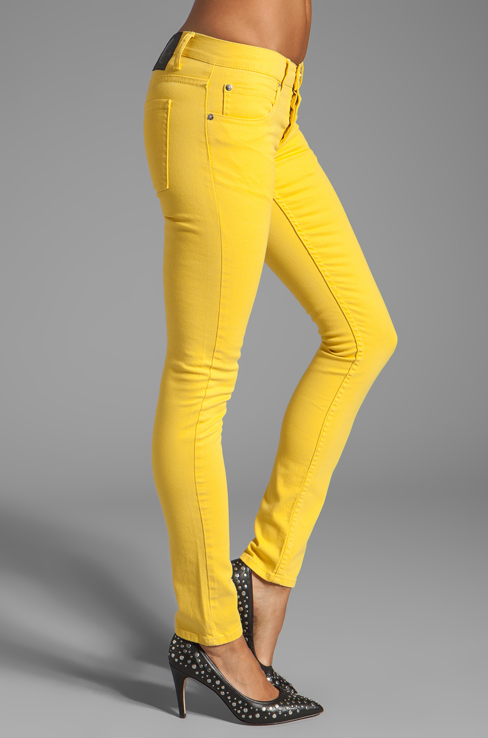a50f04aaefb6 Lyst - Cheap Monday Narrow Jeans in Bright Yellow in Yellow