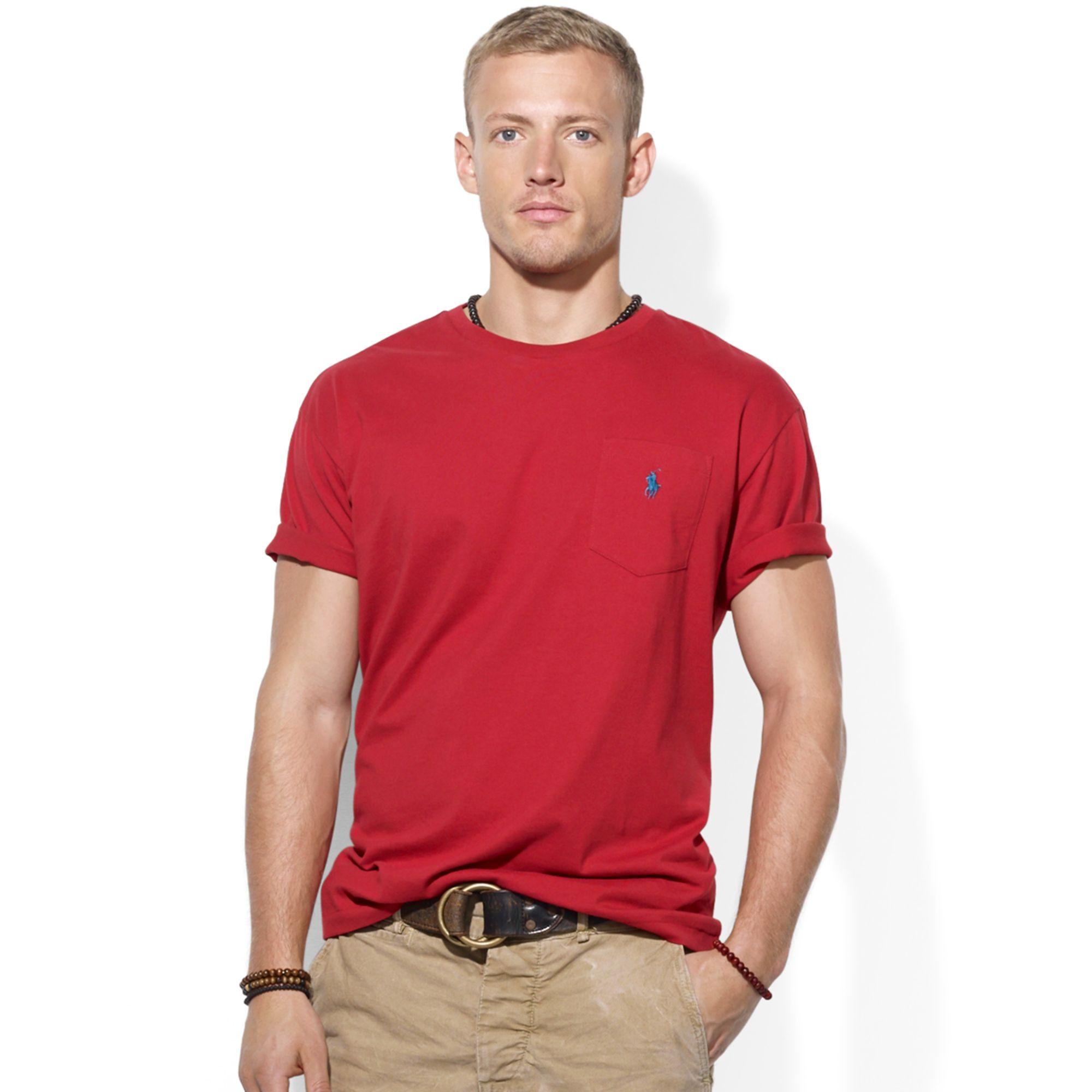 Polo ralph lauren classic fit jersey pocket crew neck t for Ralph lauren polo jersey shirt