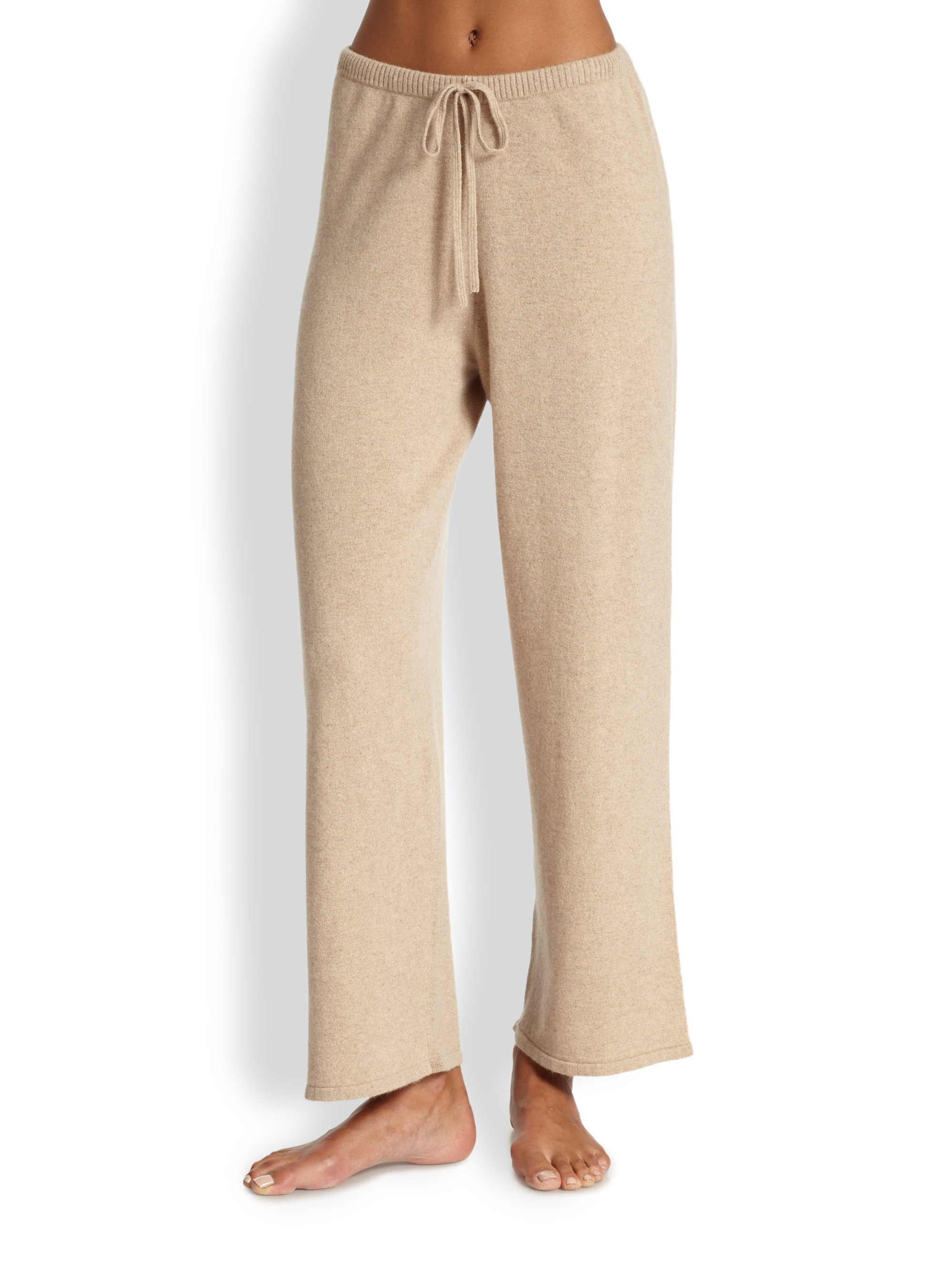 2abd8ace2bb5 Lyst - Saks Fifth Avenue Cashmere Pajama Pants in Natural