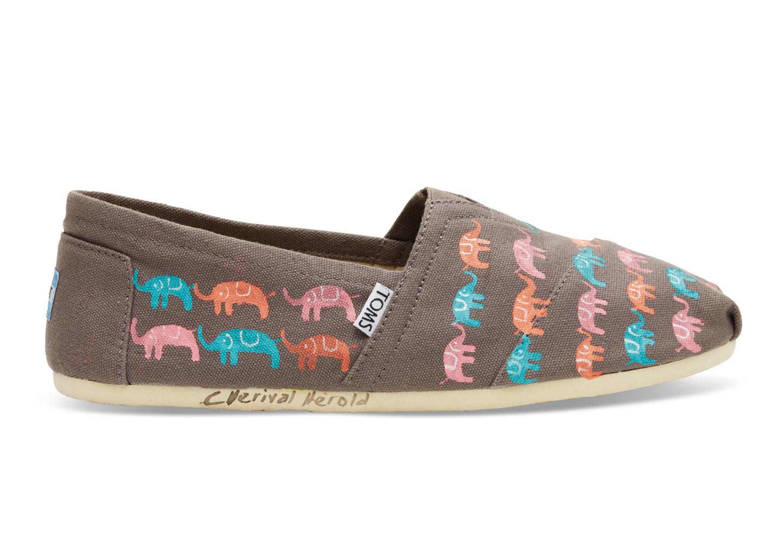 303aecdd518 Lyst - TOMS Haiti Multi Elephants Women S Classics