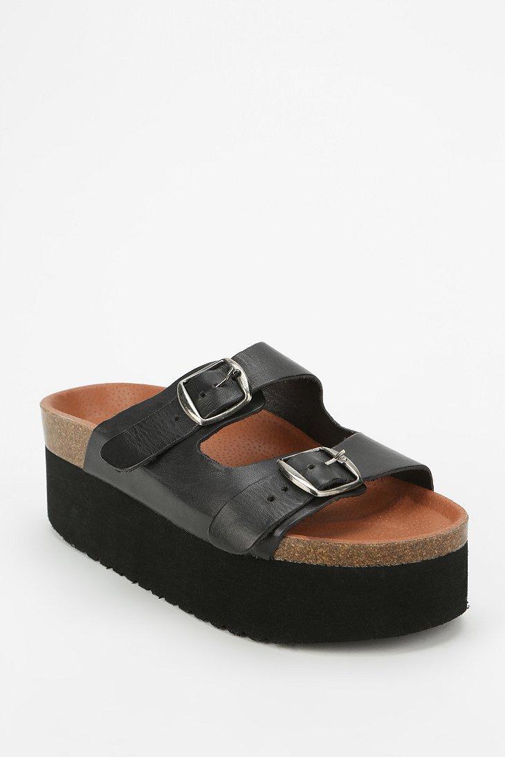 Sixtyseven Sixtyseven Indigo Platform Sandal In Black Lyst