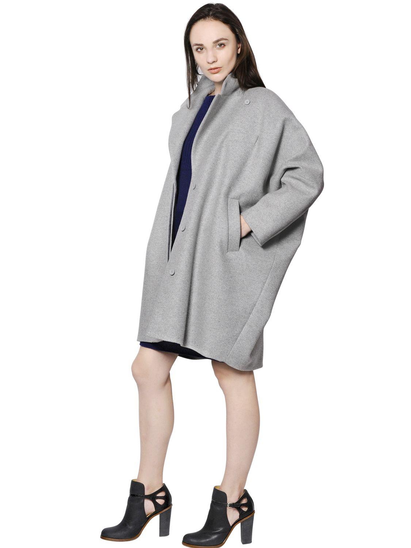 Mm6 by maison martin margiela oversize wool coat in gray for Mm6 maison martin margiela