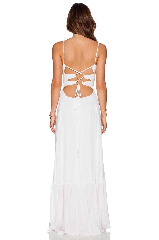 Ruffle bottom maxi dress