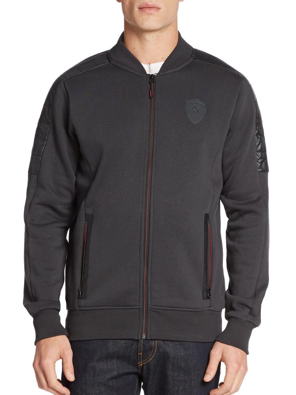 puma ferrari jacket in gray for men | lyst