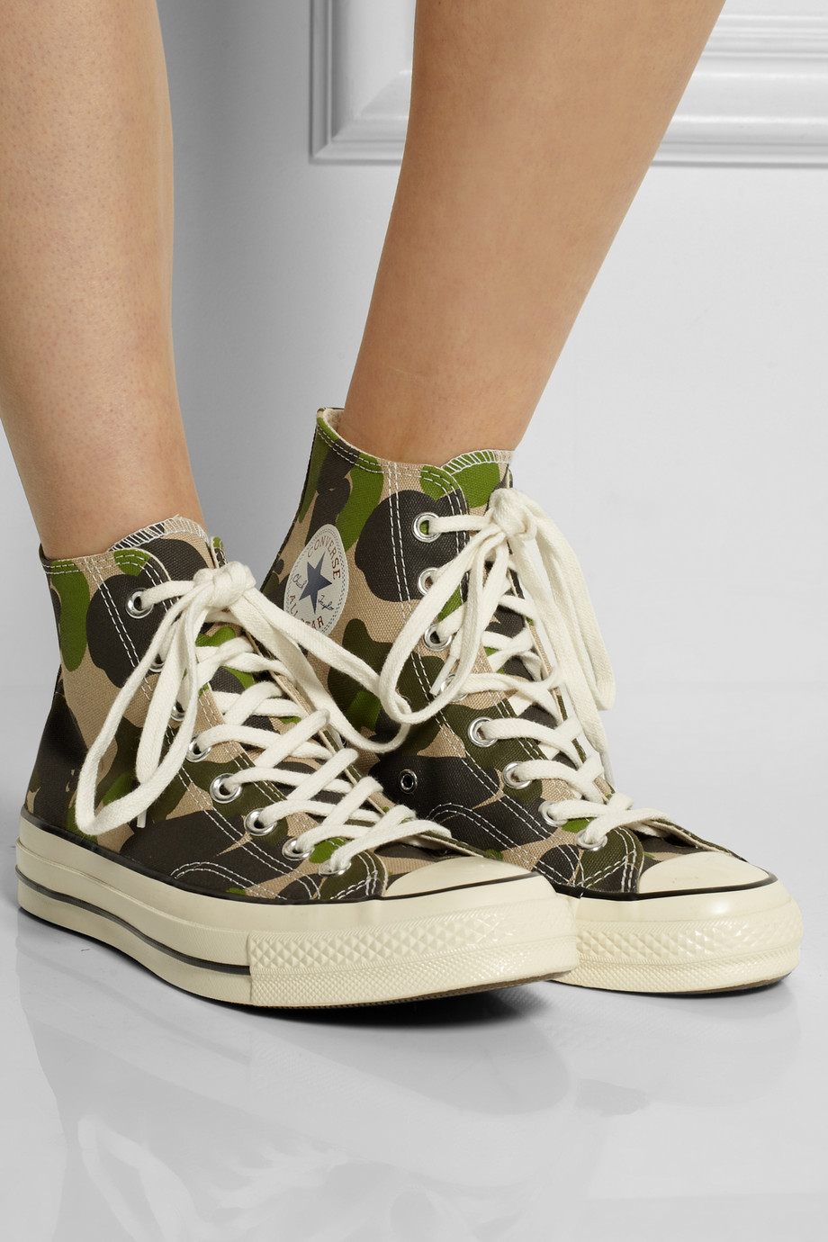 8c38be5a8f Converse Chuck Taylor All Star '70 Printed Canvas High-Top Sneakers in  Green - Lyst